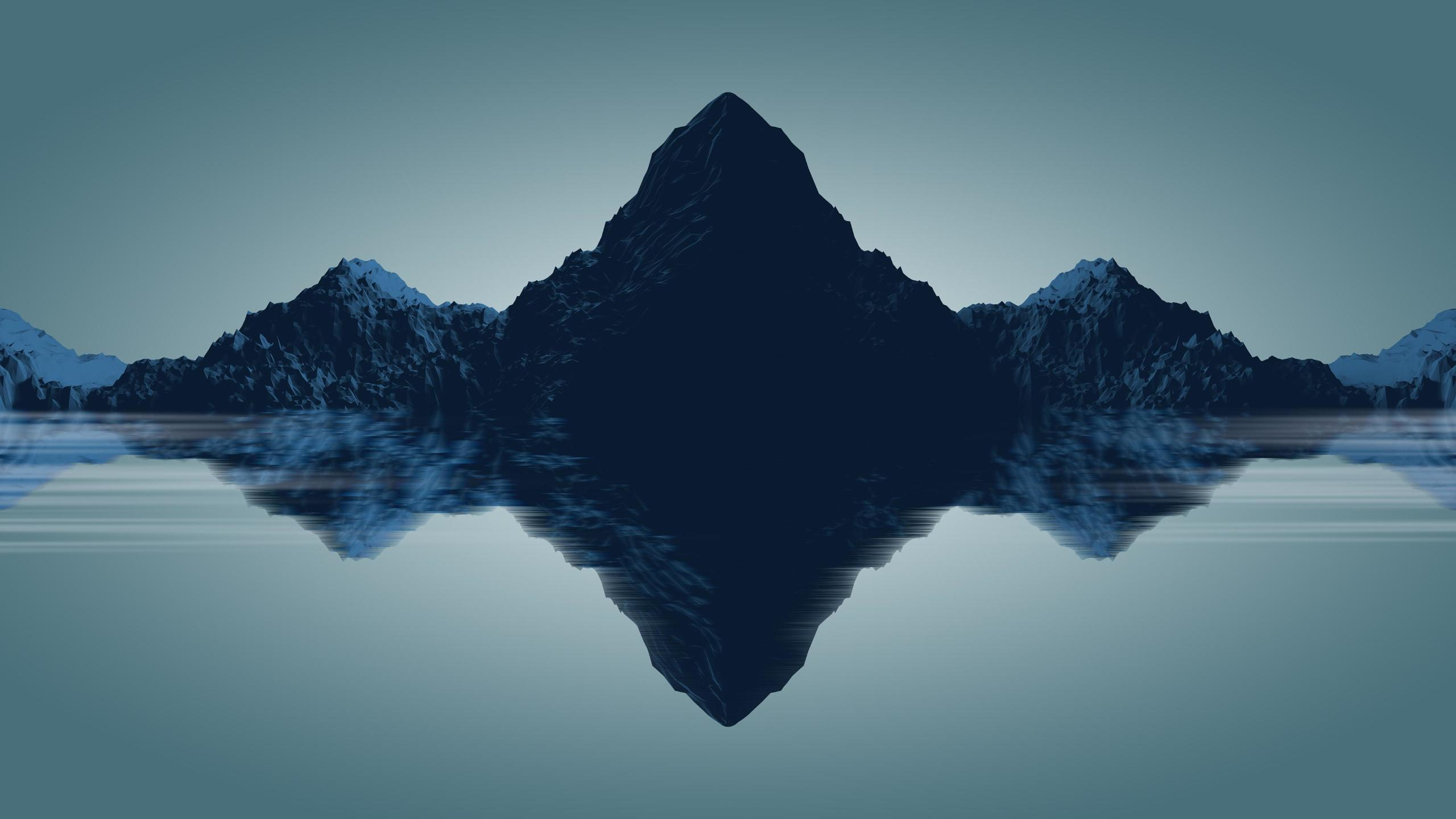 2560x1440 Minimal Mountains 1440P Resolution Wallpaper, HD ...