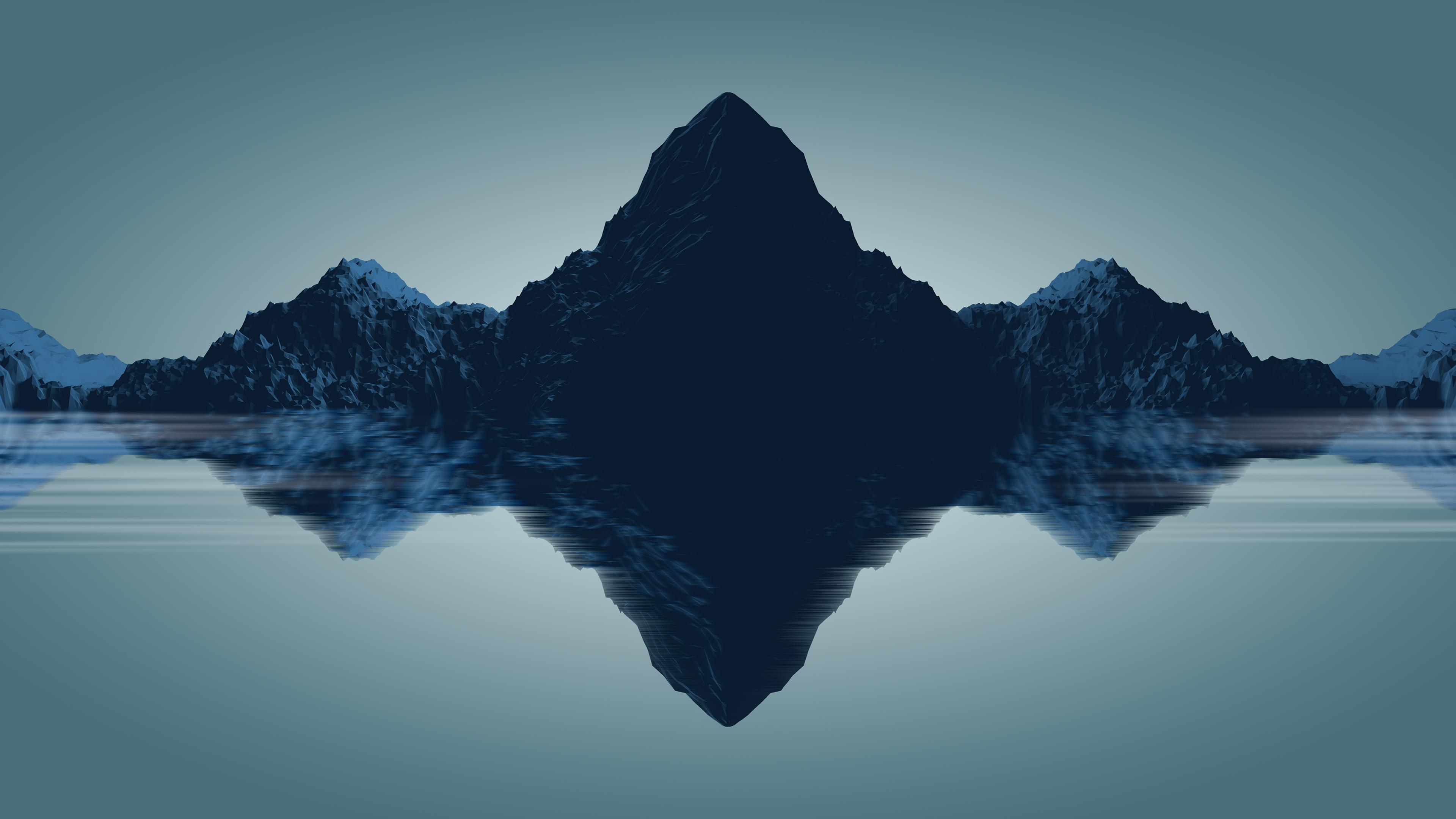 Minimal Mountains, HD 4K Wallpaper