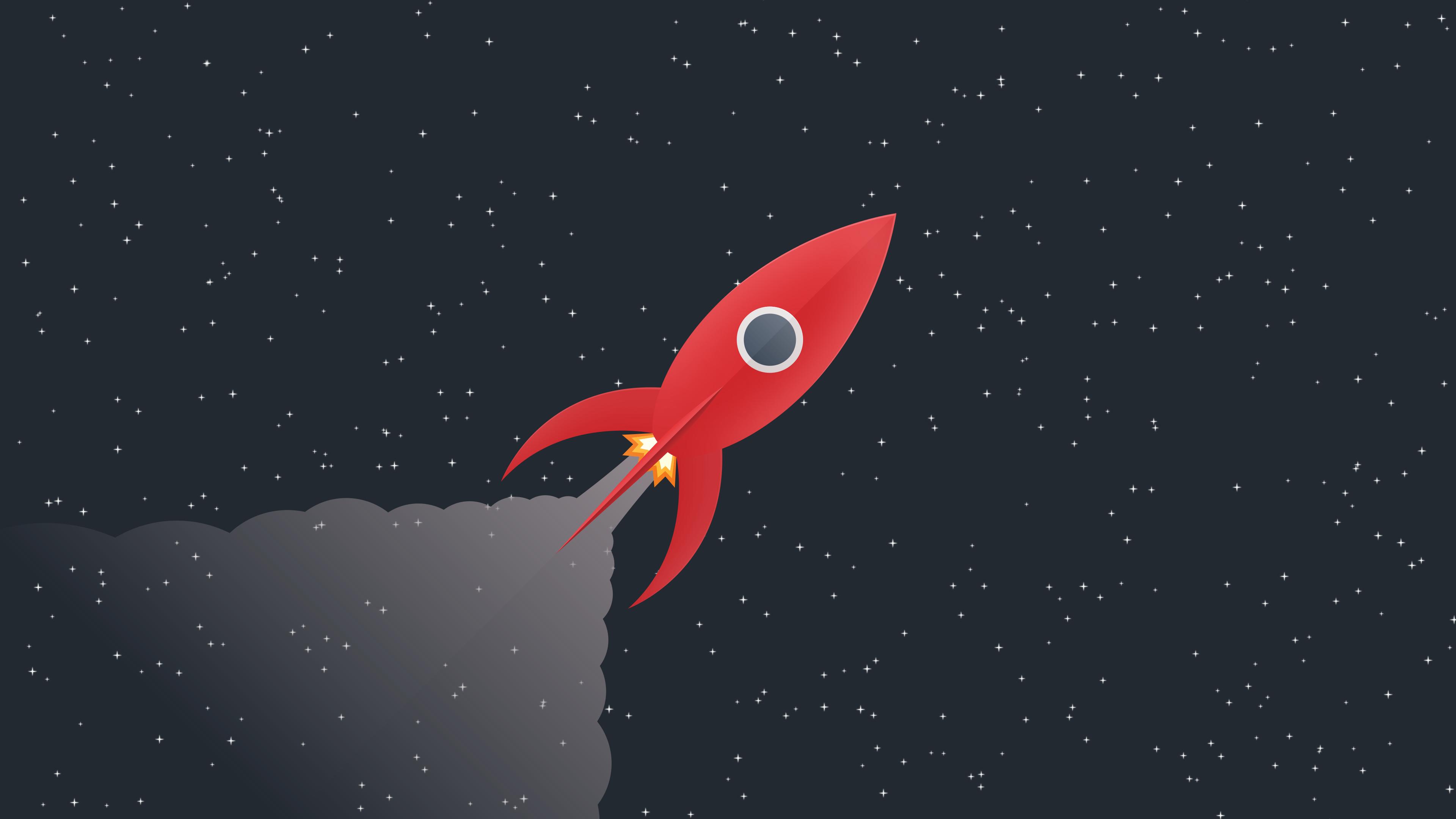 1600x900 Minimal Rocket In Space 1600x900 Resolution