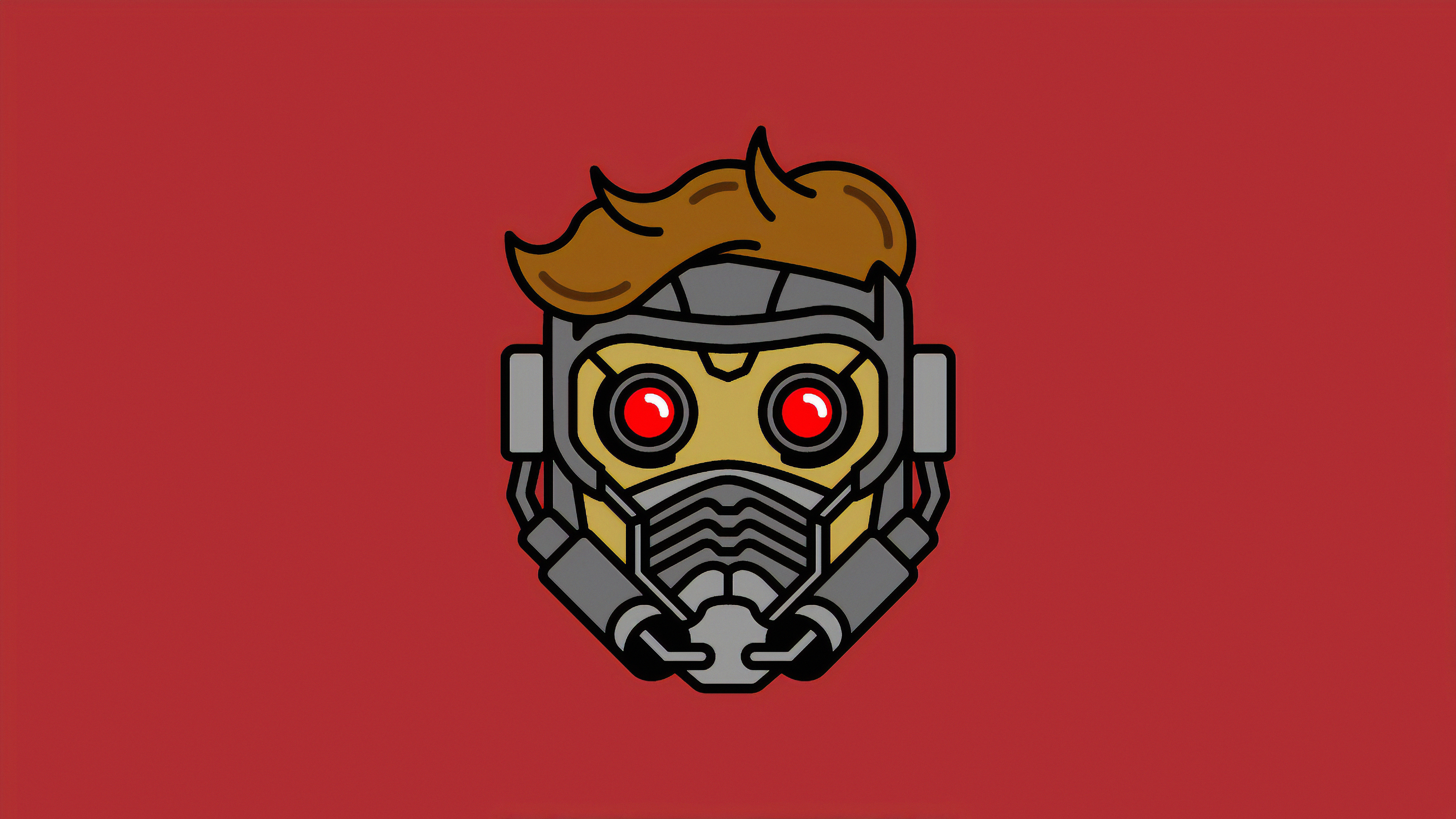 Minimal Star Lord Mask Wallpaper Hd Minimalist 4k