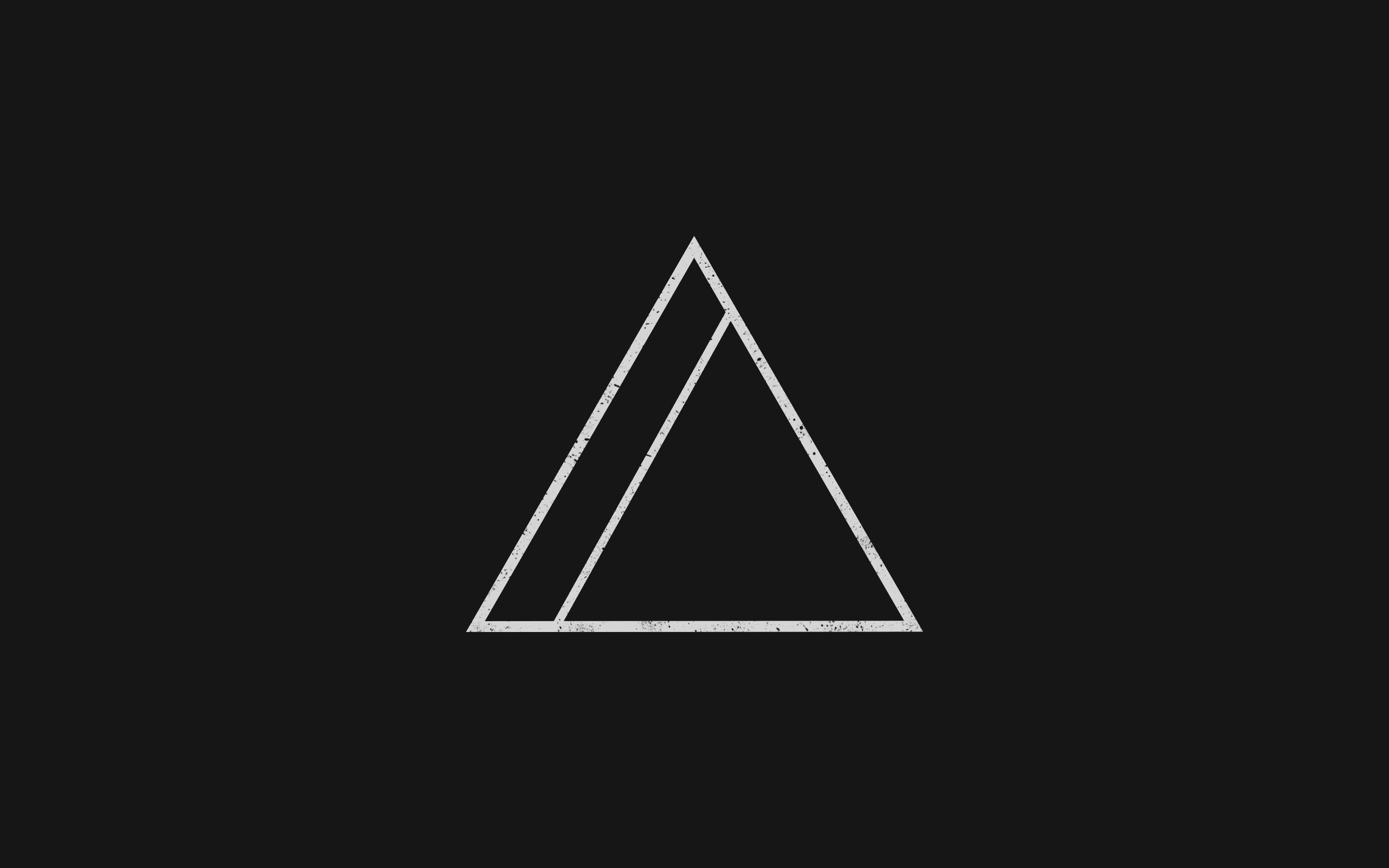 Minimalism Geometry Triangle Wallpaper, HD Minimalist 4K ...