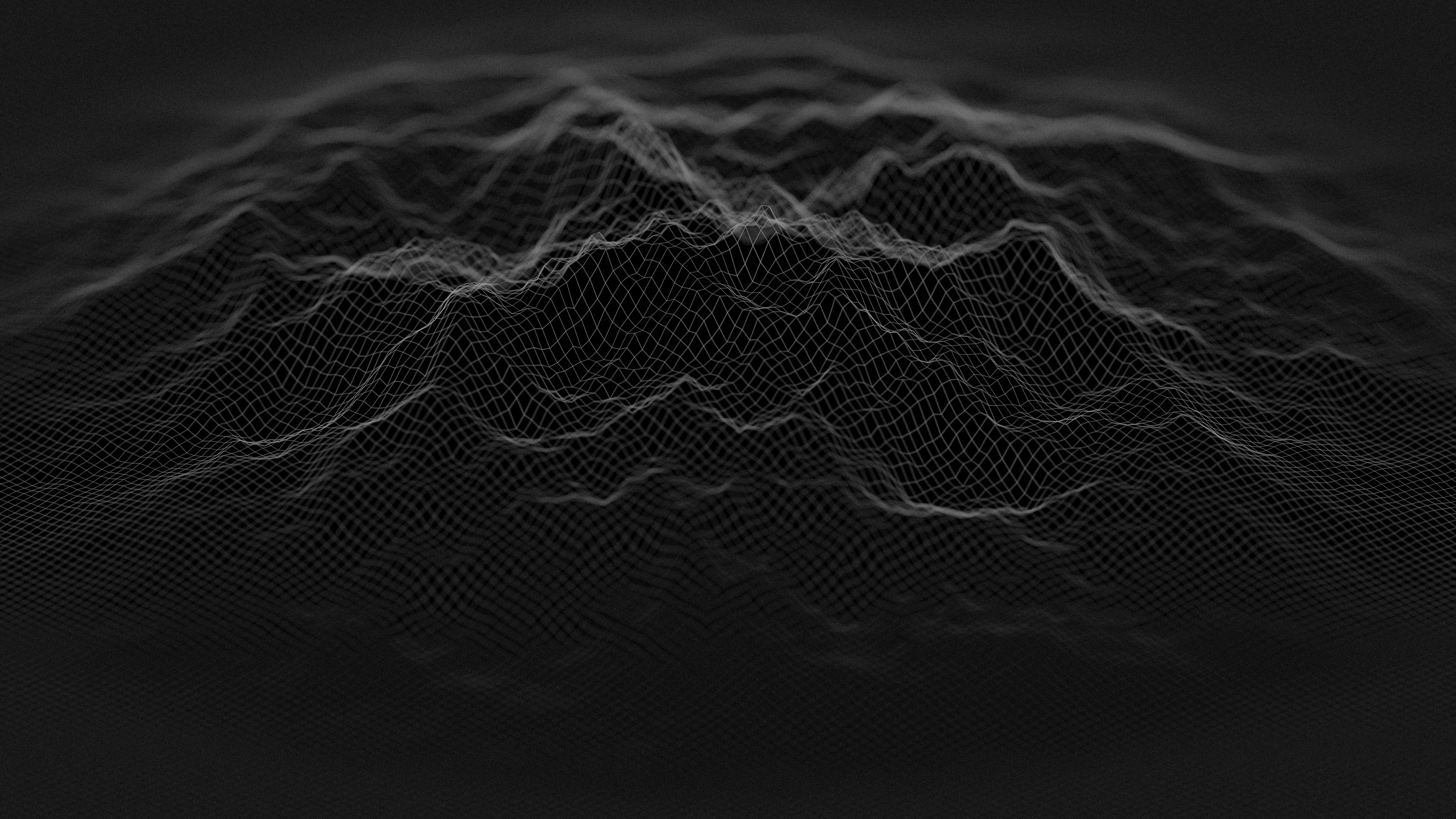 Minimalist Black Digital Blend Wallpaper, HD Abstract 4K ...