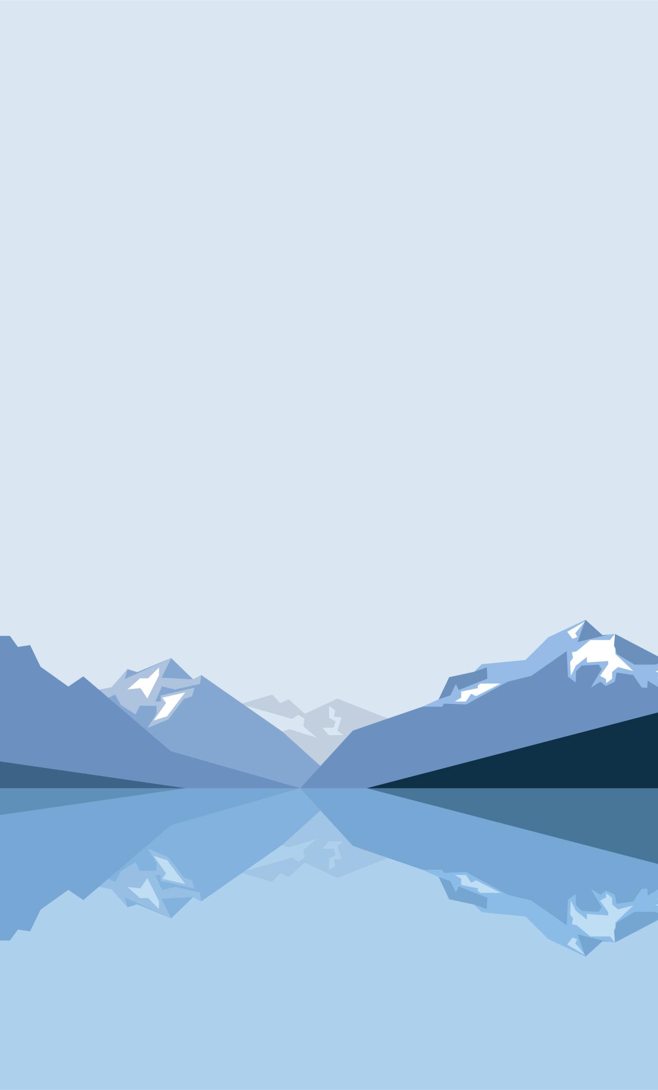 Minimalist blue mountains hd 8k wallpaper - 8k minimal wallpaper ...