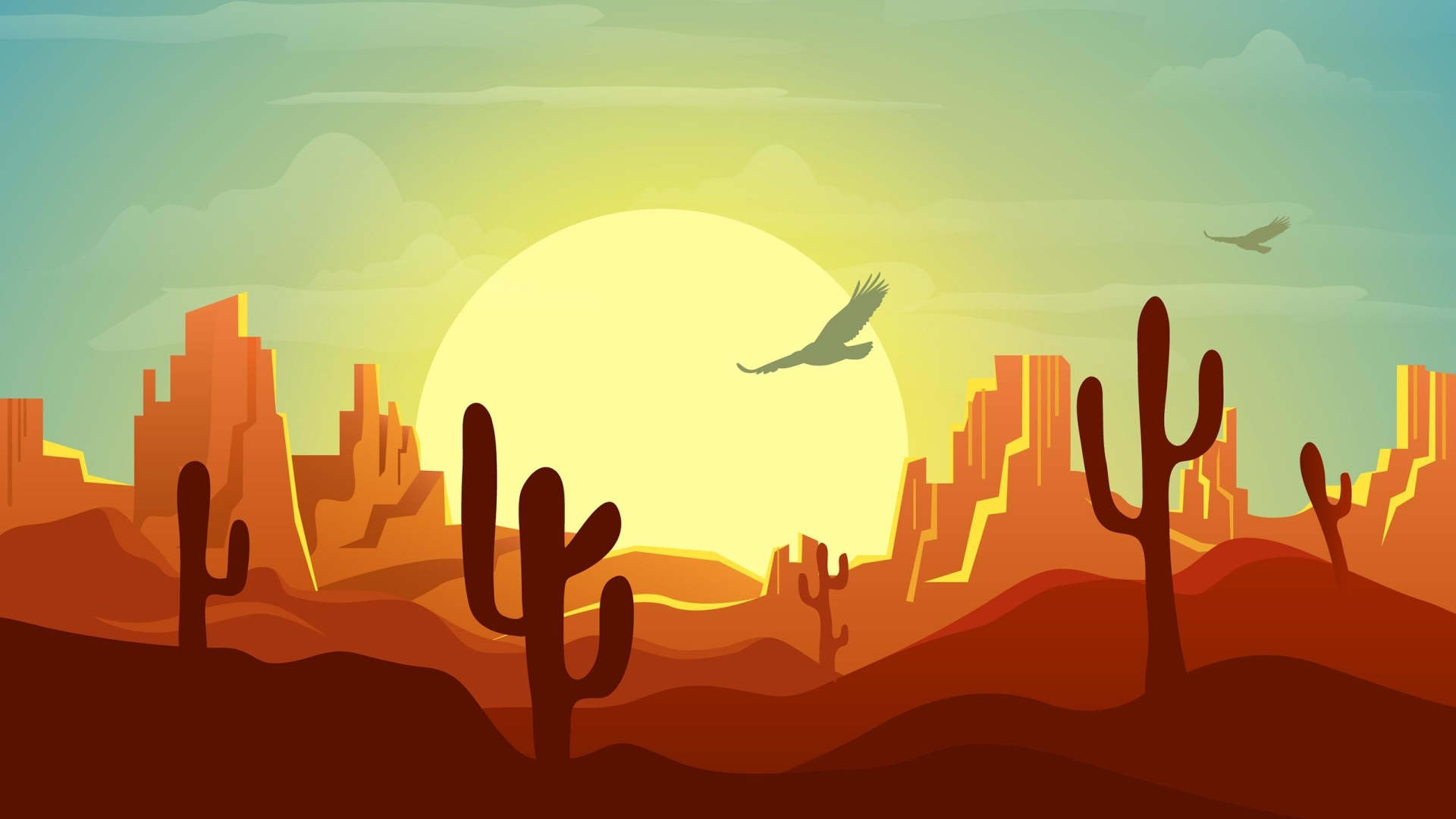 1920x1080 Minimalist Desert At Sunset 1080p Laptop Full Hd Wallpaper Hd Artist 4k Wallpapers Images Photos And Background
