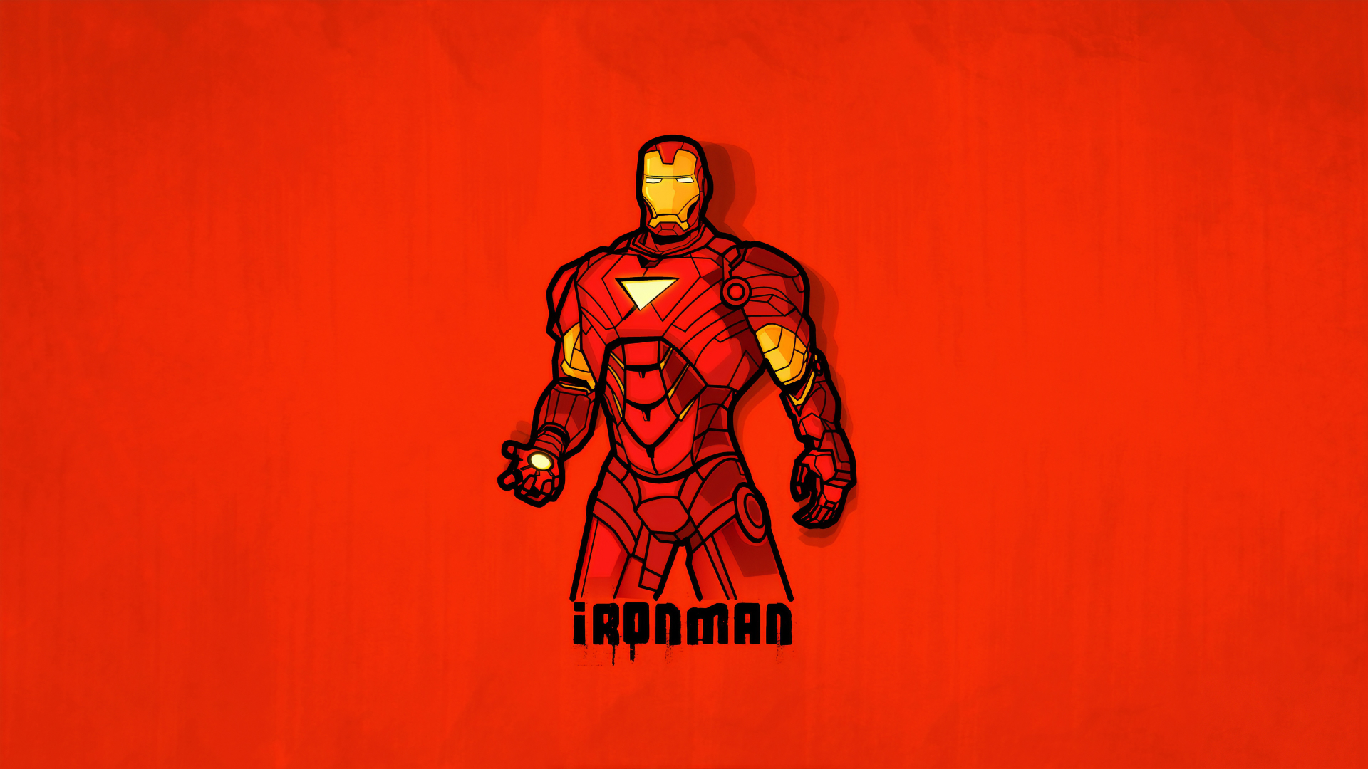 1920x1080 Minimalist Iron Man 1080p Laptop Full Hd Wallpaper