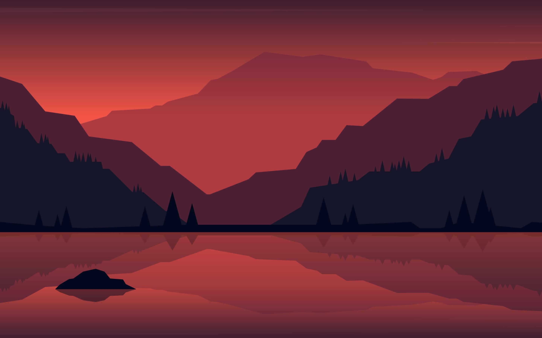 2880x1800 Minimalist Landscape Painting Macbook Pro Retina ...