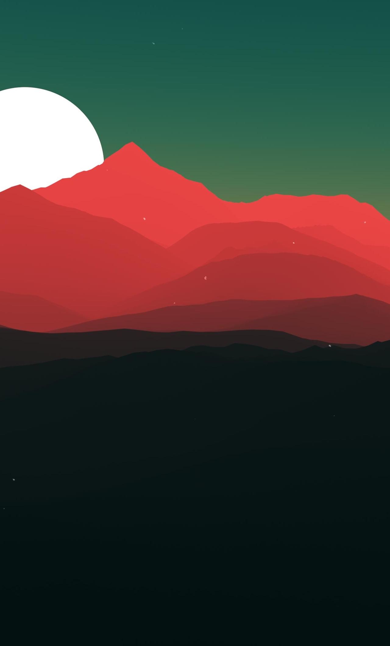 Minimalist Landscape, HD 4K Wallpaper