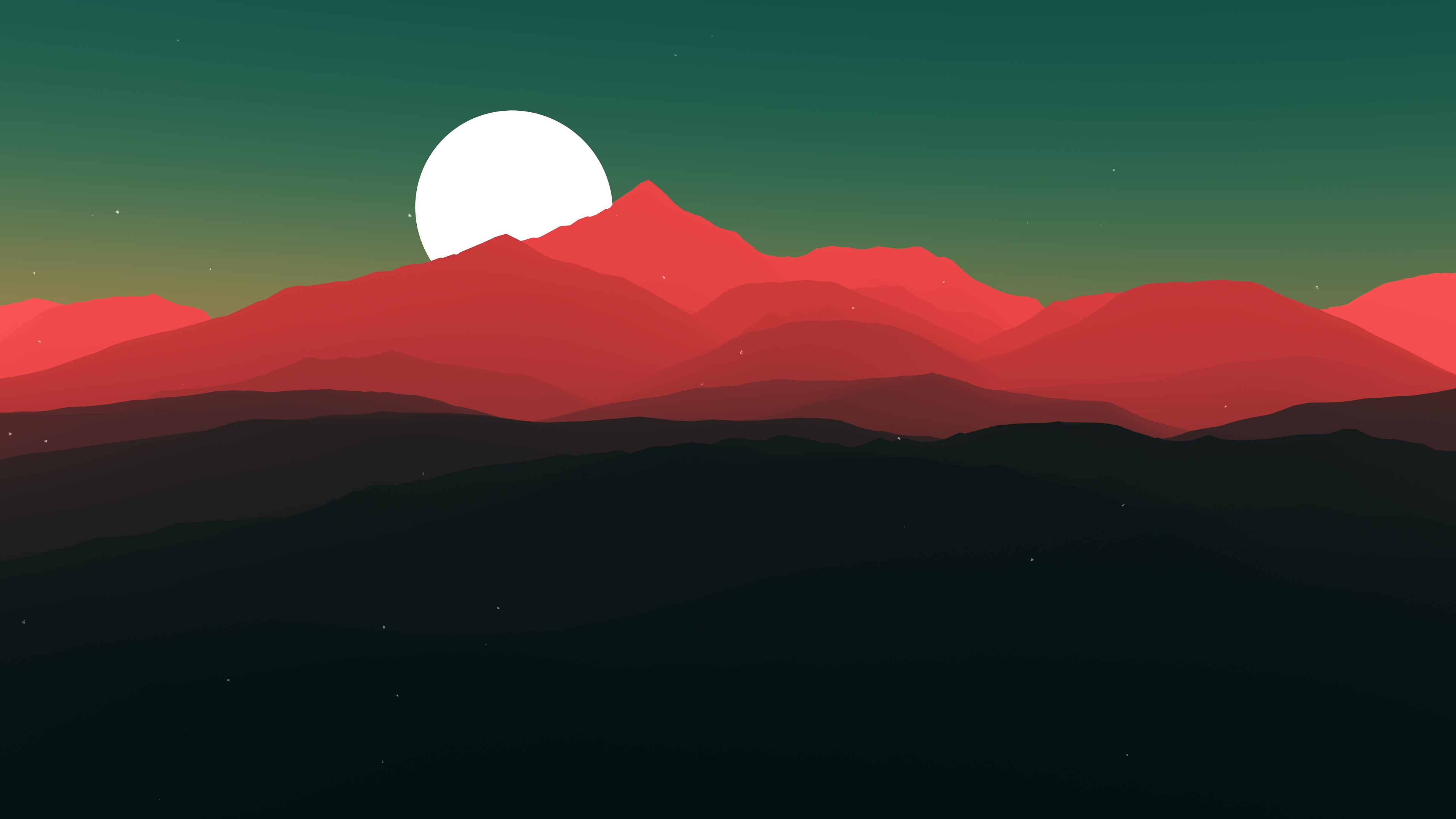 Minimalist landscape hd 4k wallpaper for Minimal art video