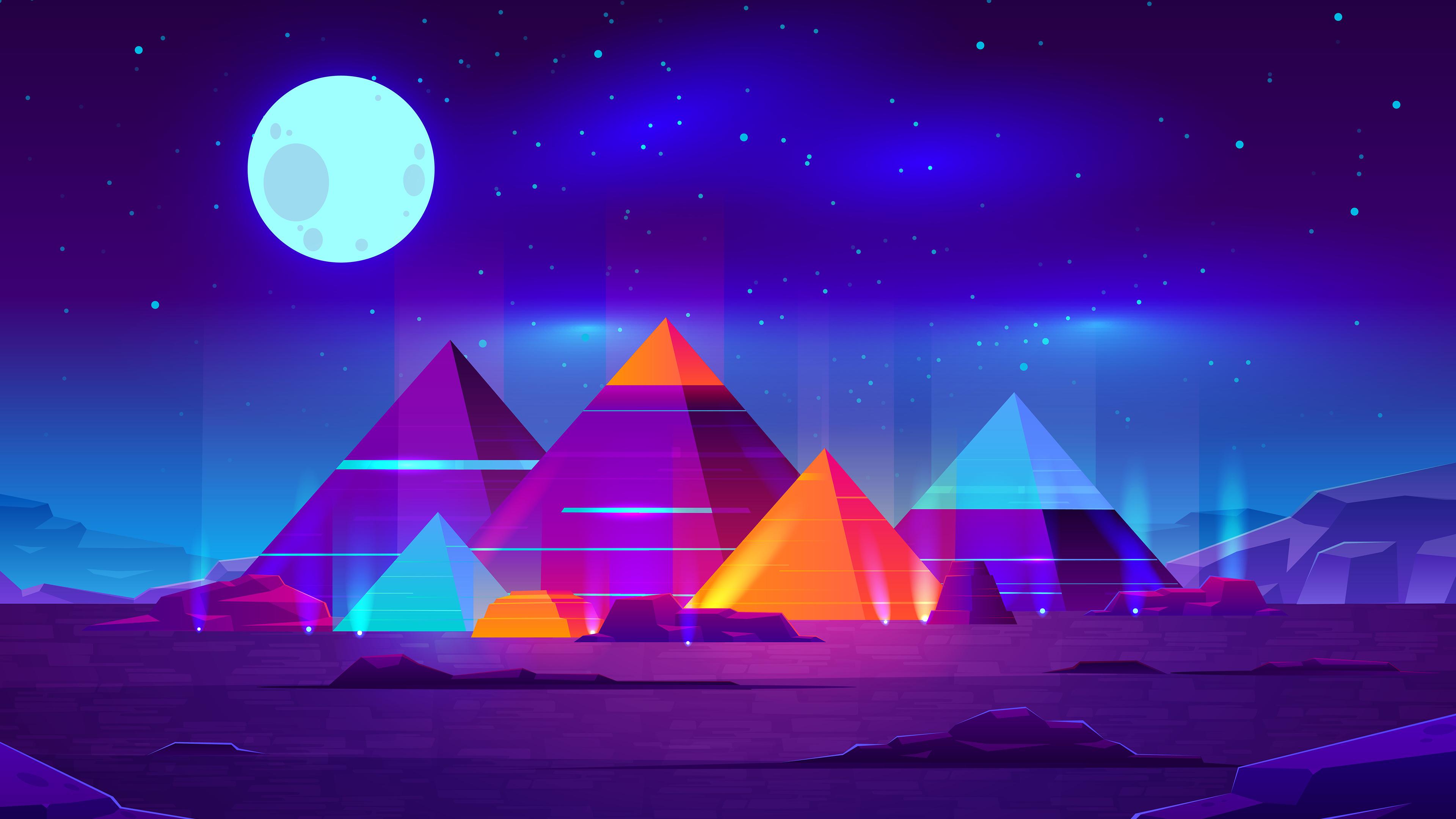 3840x2160 Minimalist Pyramid 4K Wallpaper, HD Minimalist ...