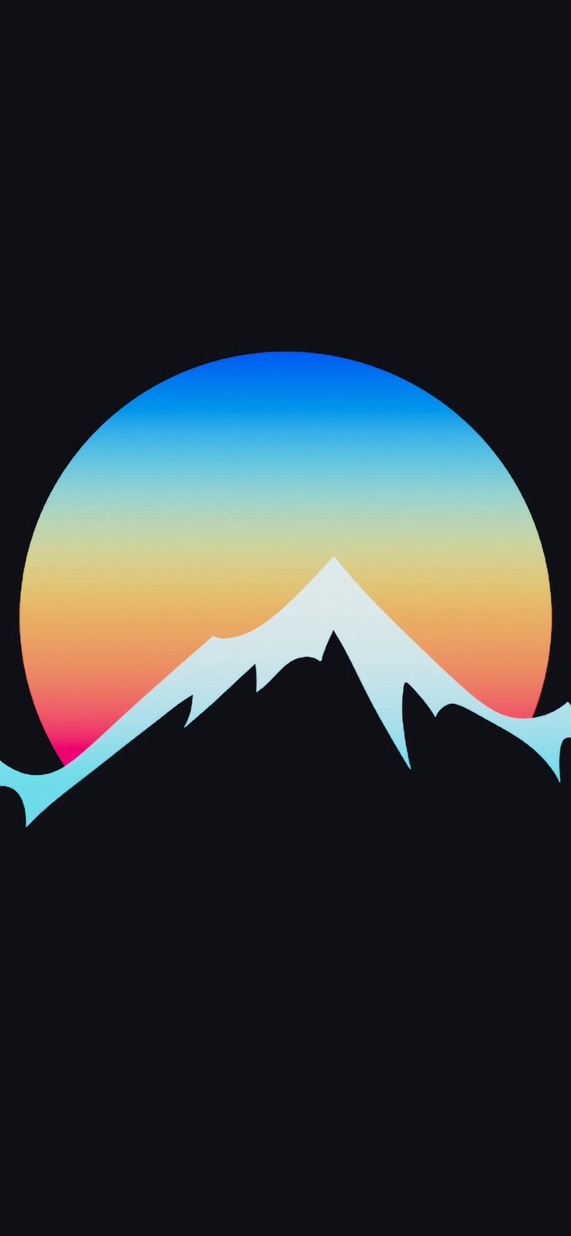 1125x2436 Minimalist Sunset In Hill Iphone Xsiphone 10