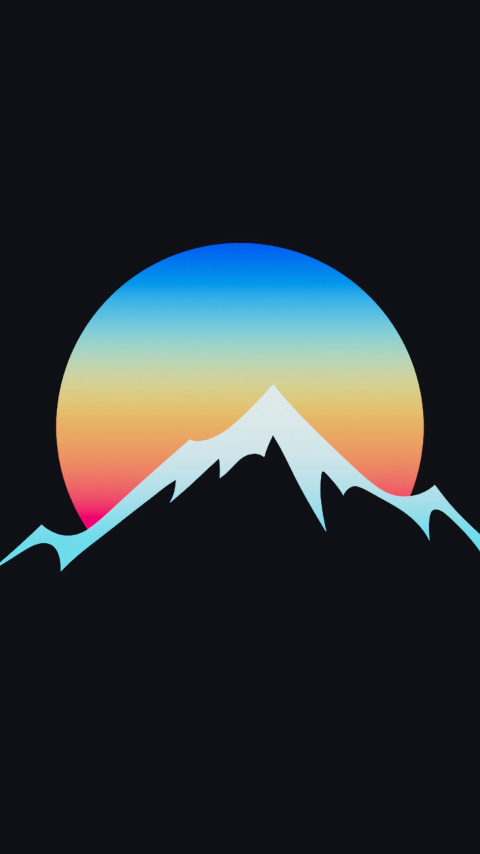 480x854 Minimalist Sunset In Hill Android One Mobile ...