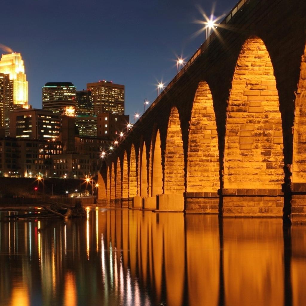 Minneapolis Mississippi River Full HD Wallpaper