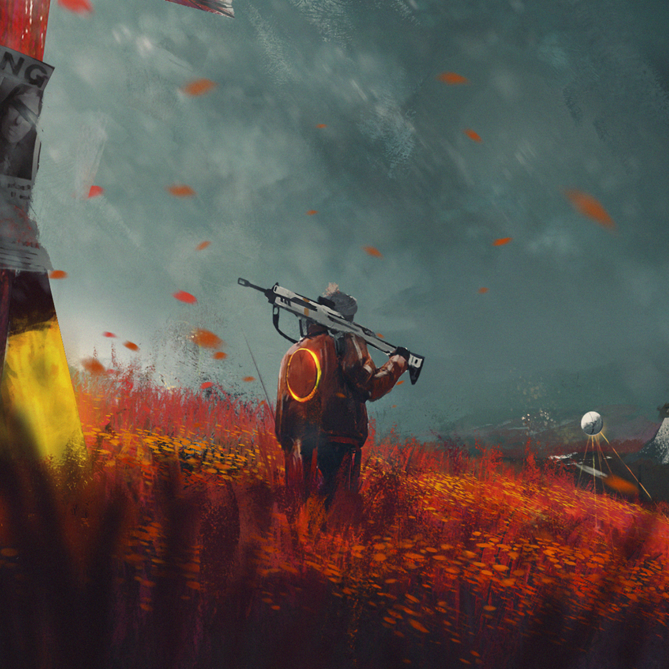 Destiny Desktop Wallpaper: Missing Alone Boy In Destiny 2 Farm Art, Full HD 2K Wallpaper