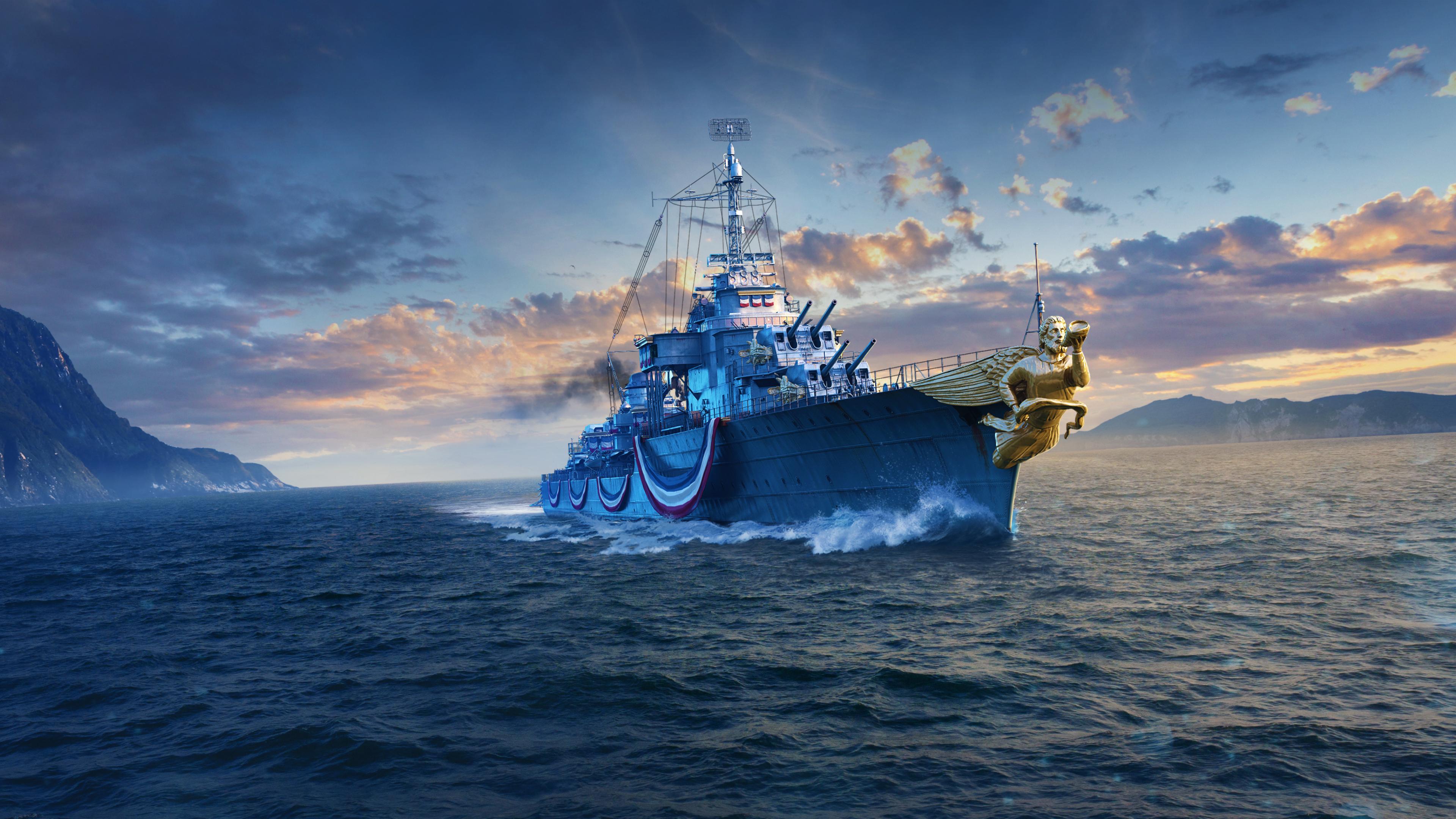 3840x2160 Mogador World Of Warships 4k Wallpaper Hd Games 4k