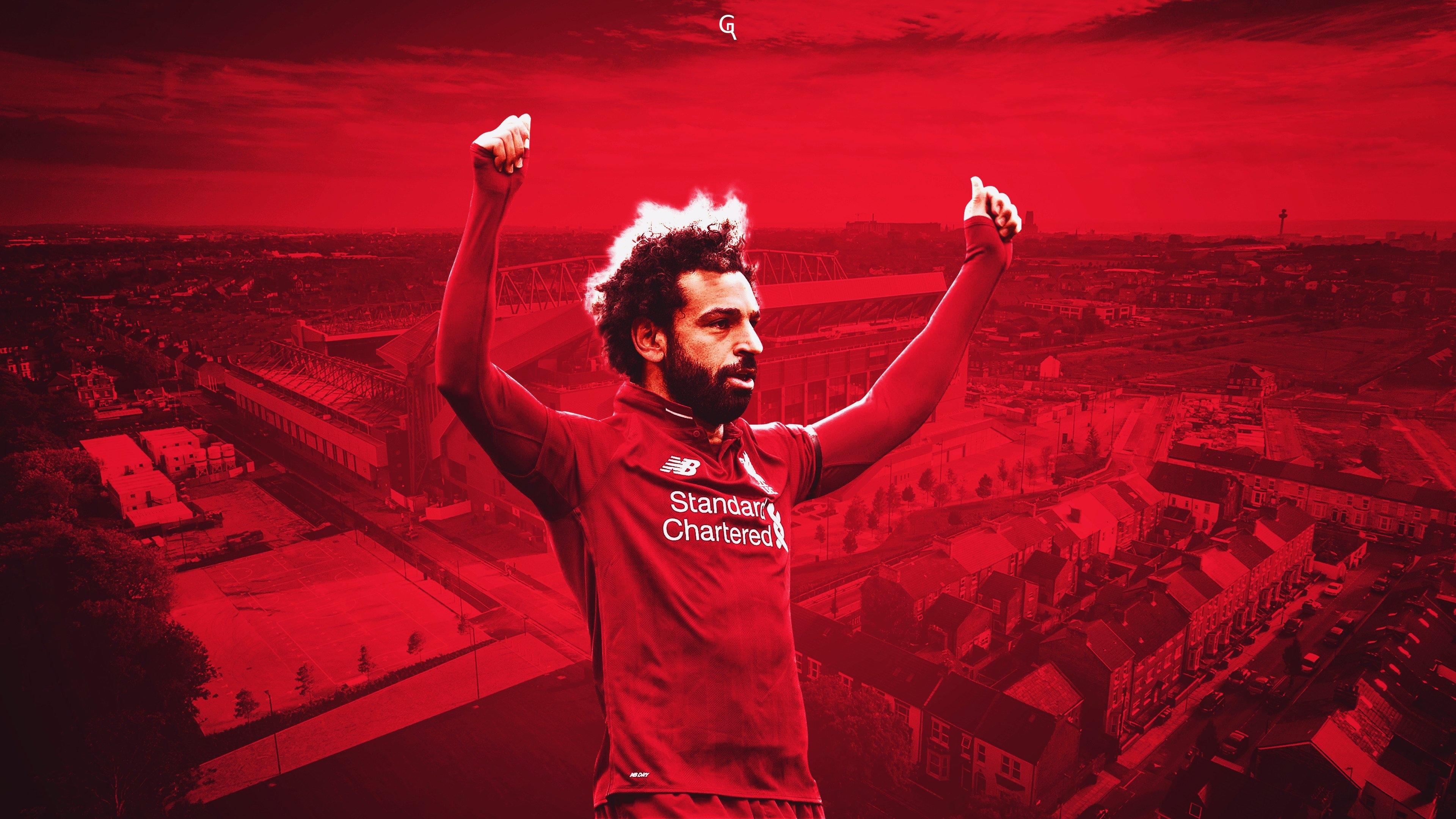 Mohamed Salah 4K Wallpaper, HD Sports 4K Wallpapers