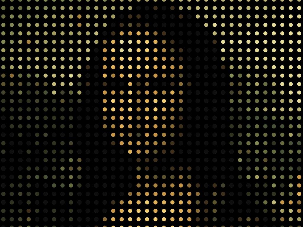 1024x768 mona lisa, portrait, pixels 1024x768 Resolution ...
