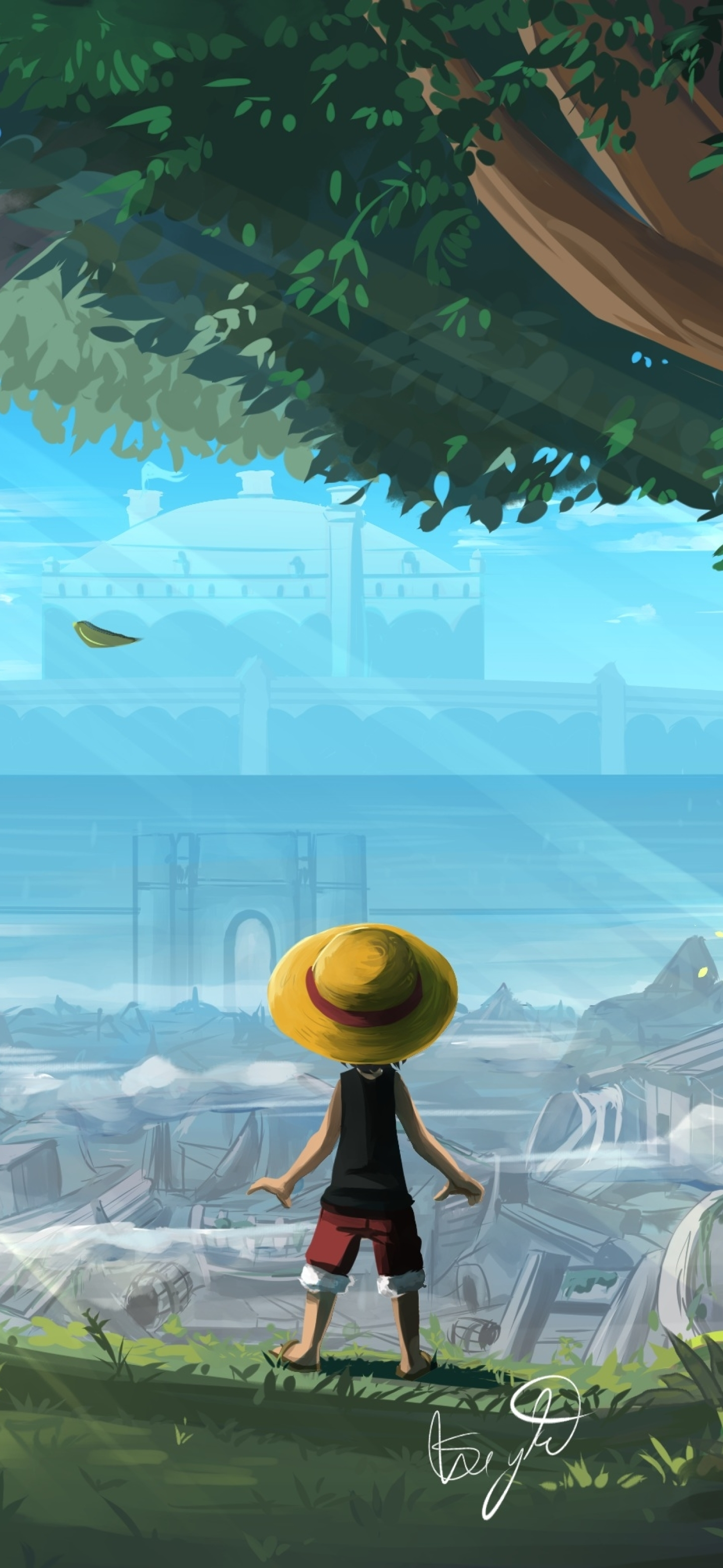 1440x3120 Monkey D Luffy One Piece Art 1440x3120 Resolution Wallpaper Hd Artist 4k Wallpapers Images Photos And Background