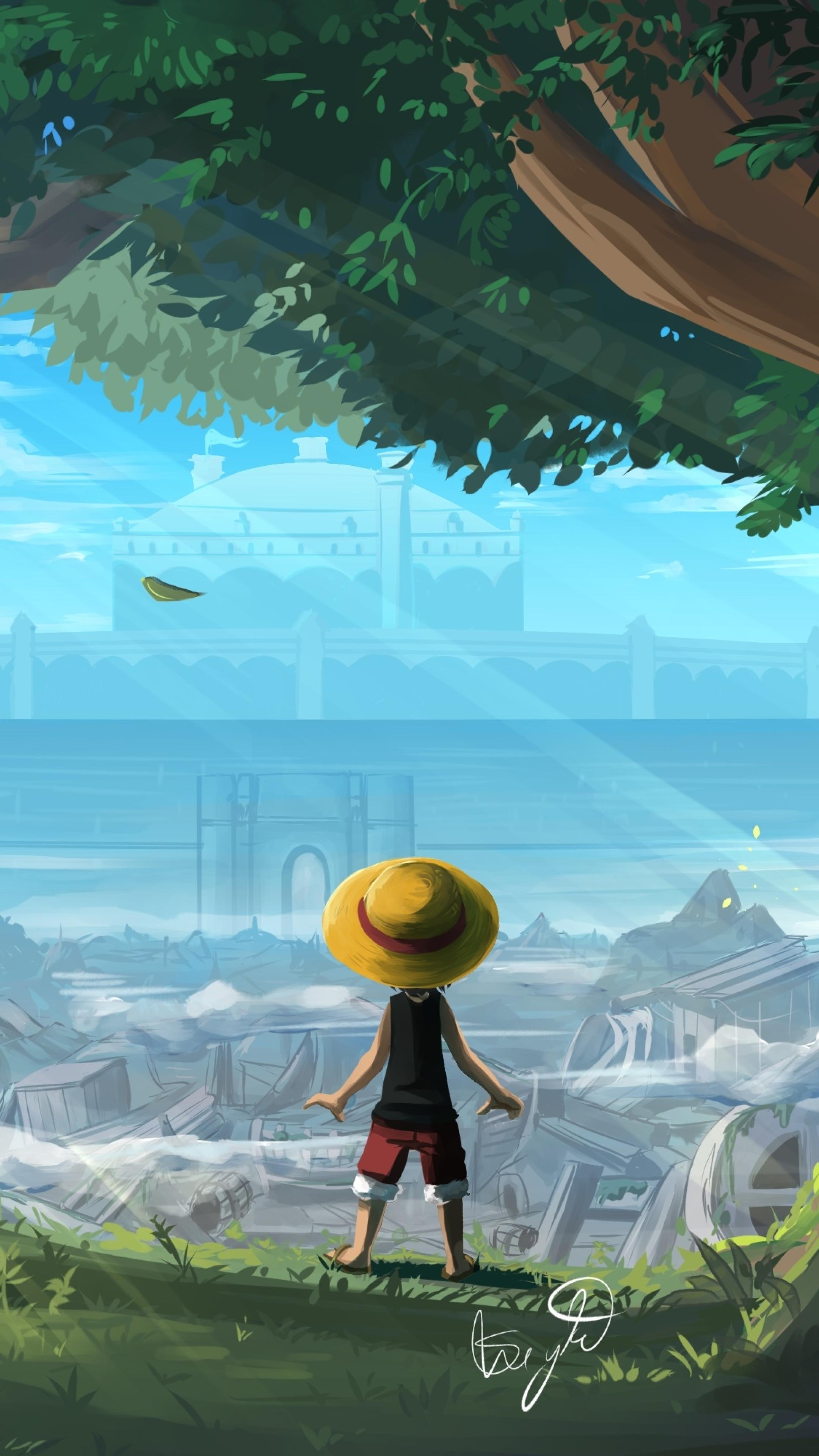 2160x3840 Monkey D Luffy One Piece Art Sony Xperia X Xz Z5