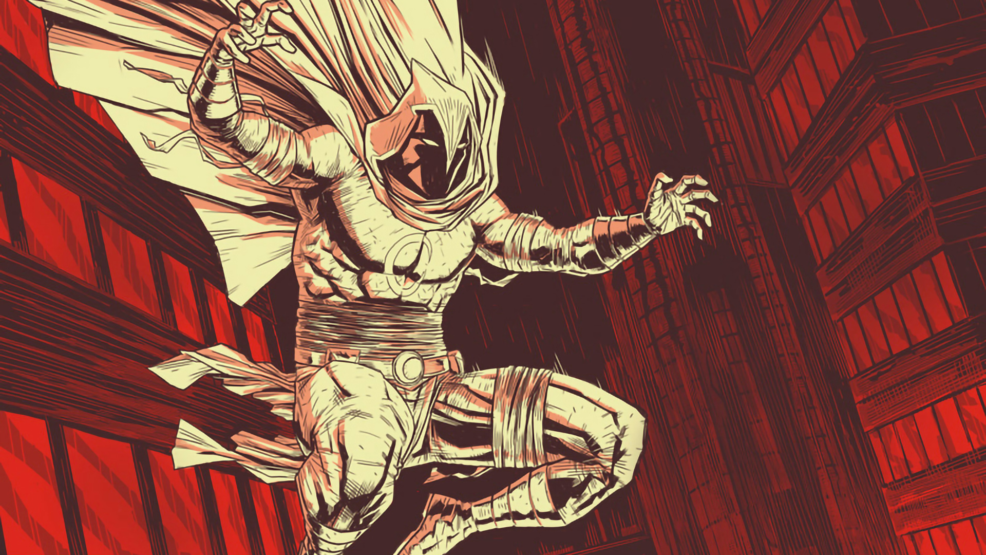 1920x1080 Moon Knight Marvel Comic Art 1080p Laptop Full Hd Wallpaper Hd Artist 4k Wallpapers Images Photos And Background
