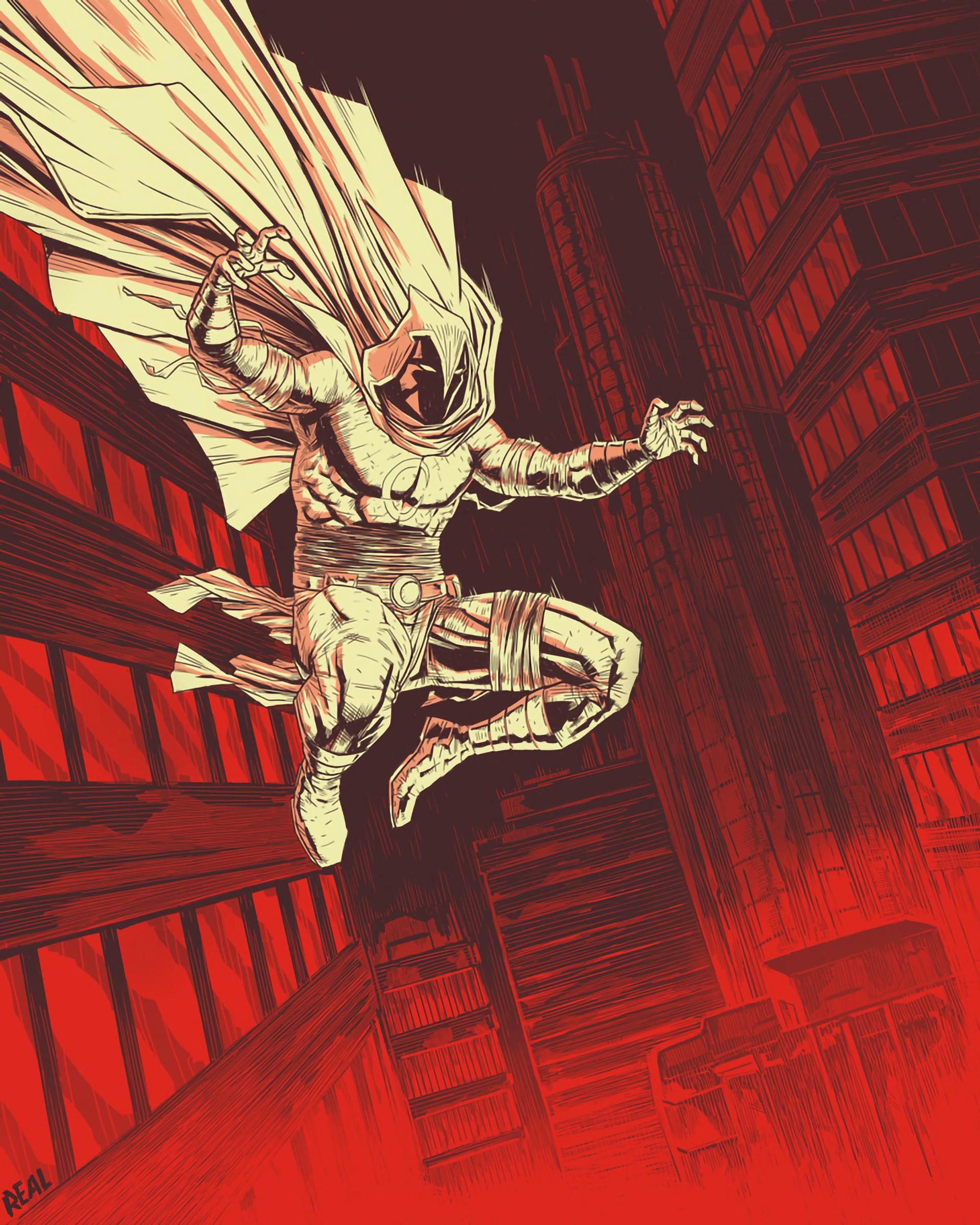 Moon Knight Marvel Comic Art Wallpaper, HD Artist 4K