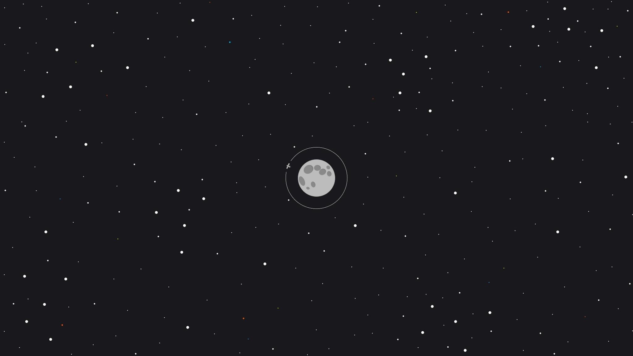 2048x1152 Moon Space Minimal 2048x1152 Resolution Wallpaper