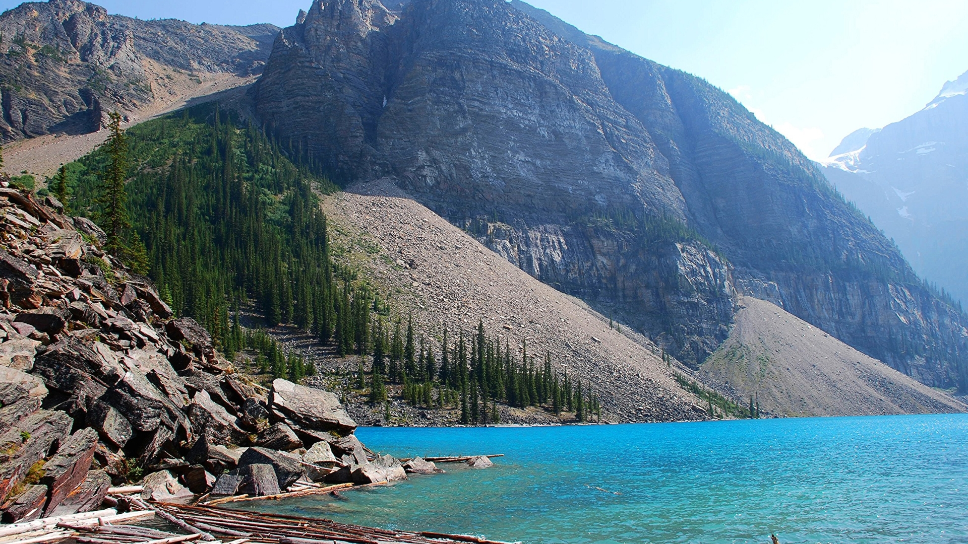 1920x1080 Moraine Lake Canada Alberta 1080p Laptop Full Hd