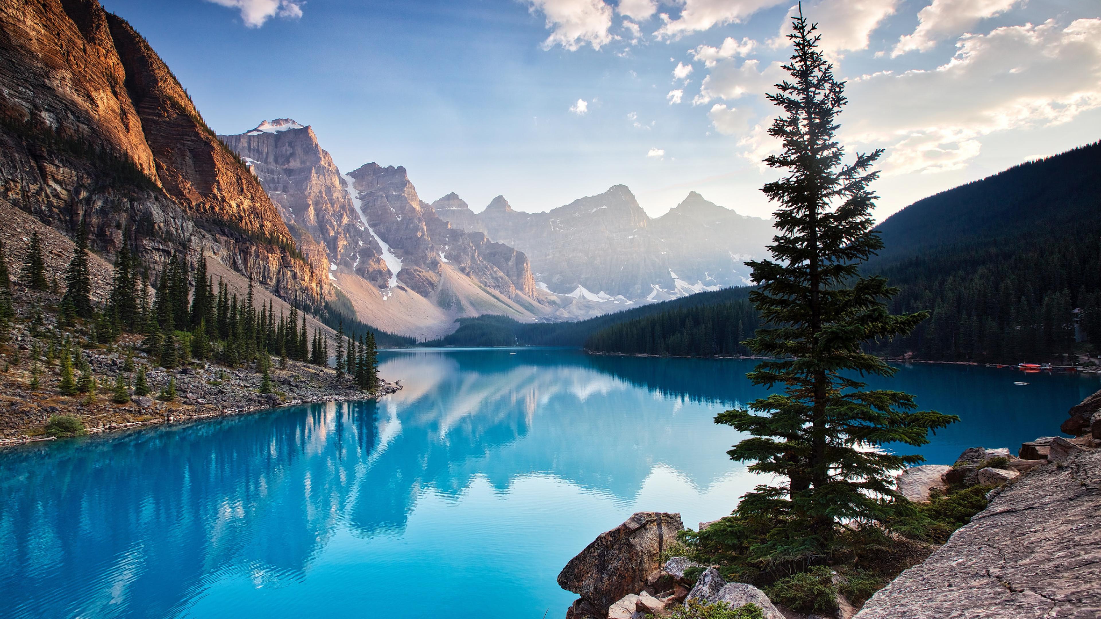 3840x2160 Moraine Lake South Channel 4k Wallpaper Hd Nature