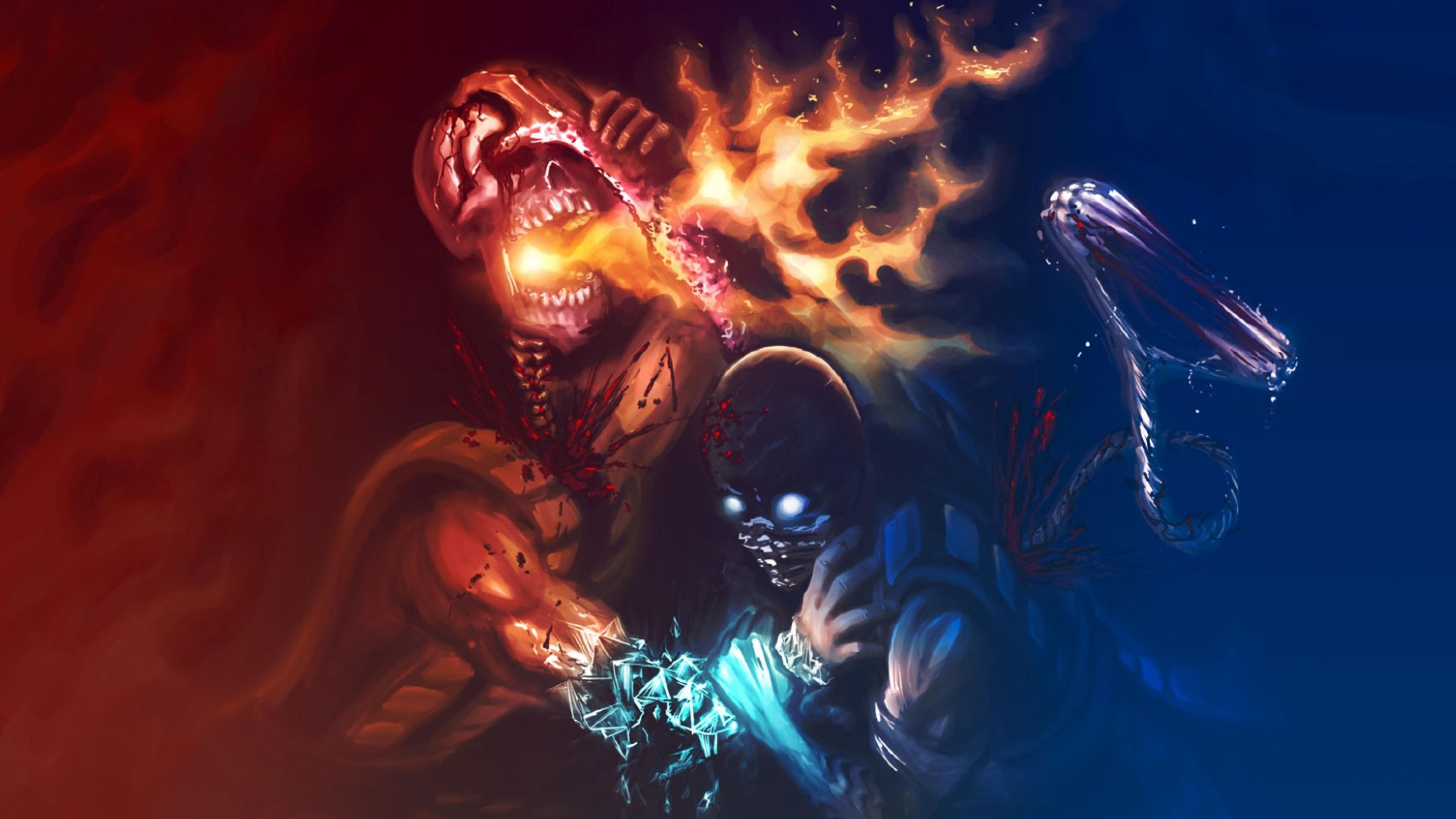 5120x2880 Mortal Kombat Scorpion Sub Zero 5k Wallpaper Hd Games