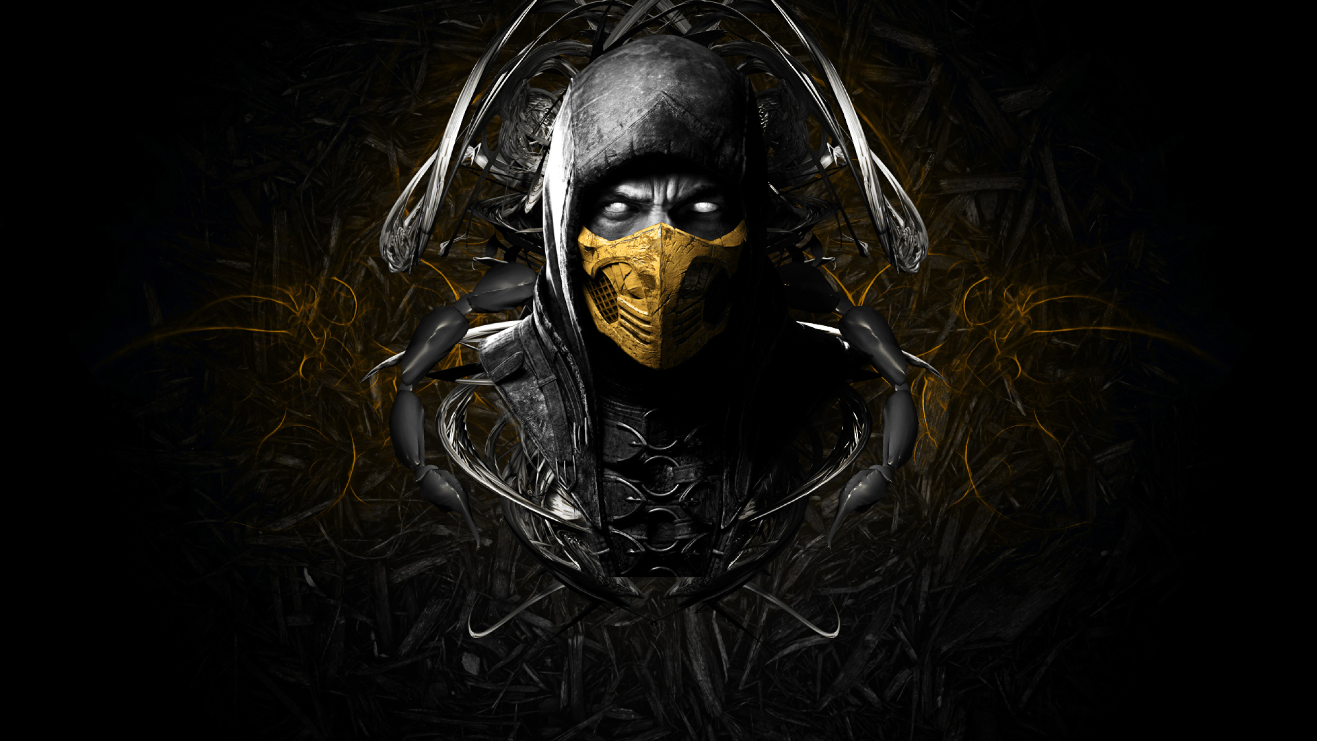 scorpion mortal kombat x wallpaper hd