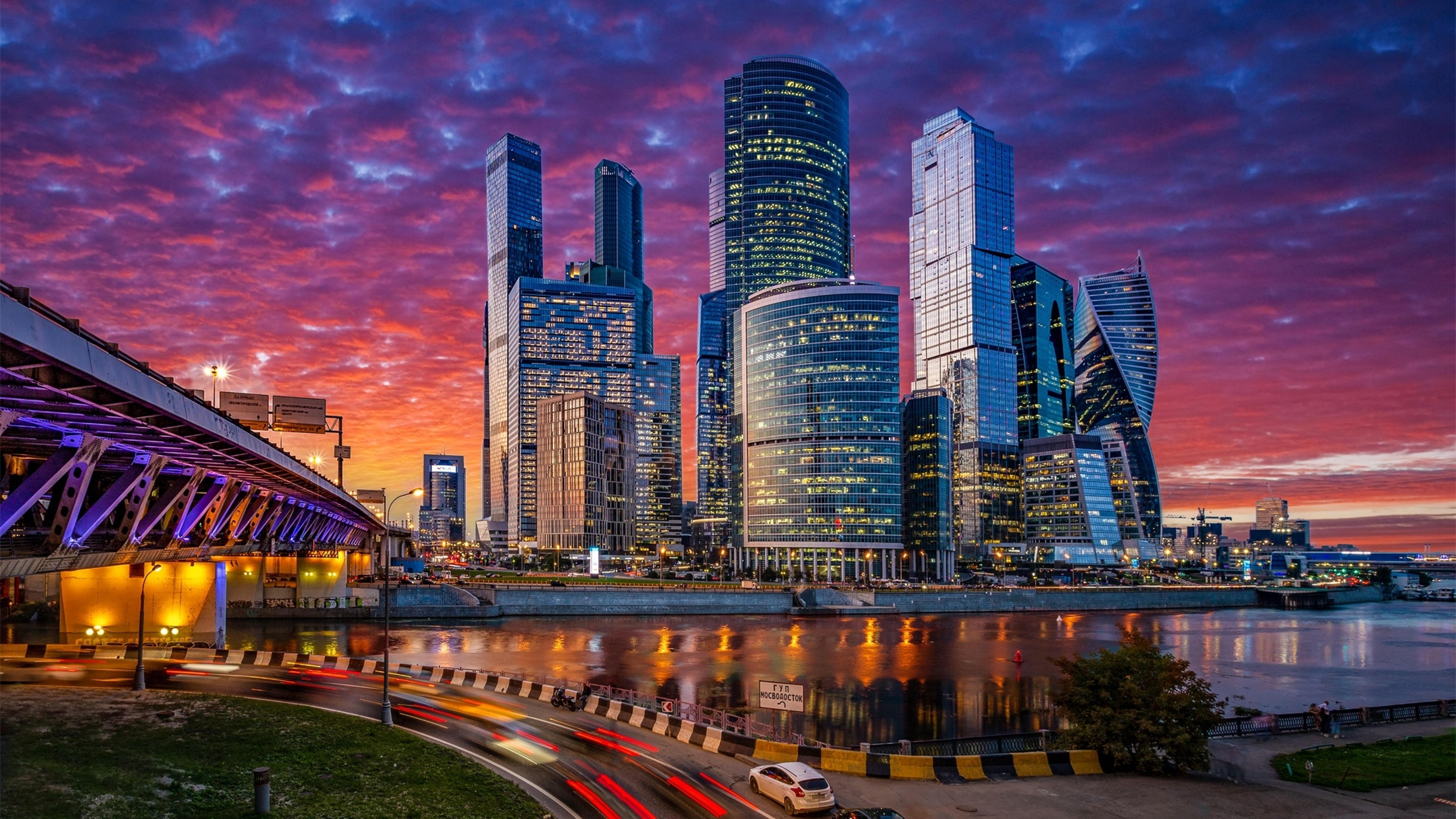 7680x4320 Moscow City At Night 8K Wallpaper, HD City 4K ...