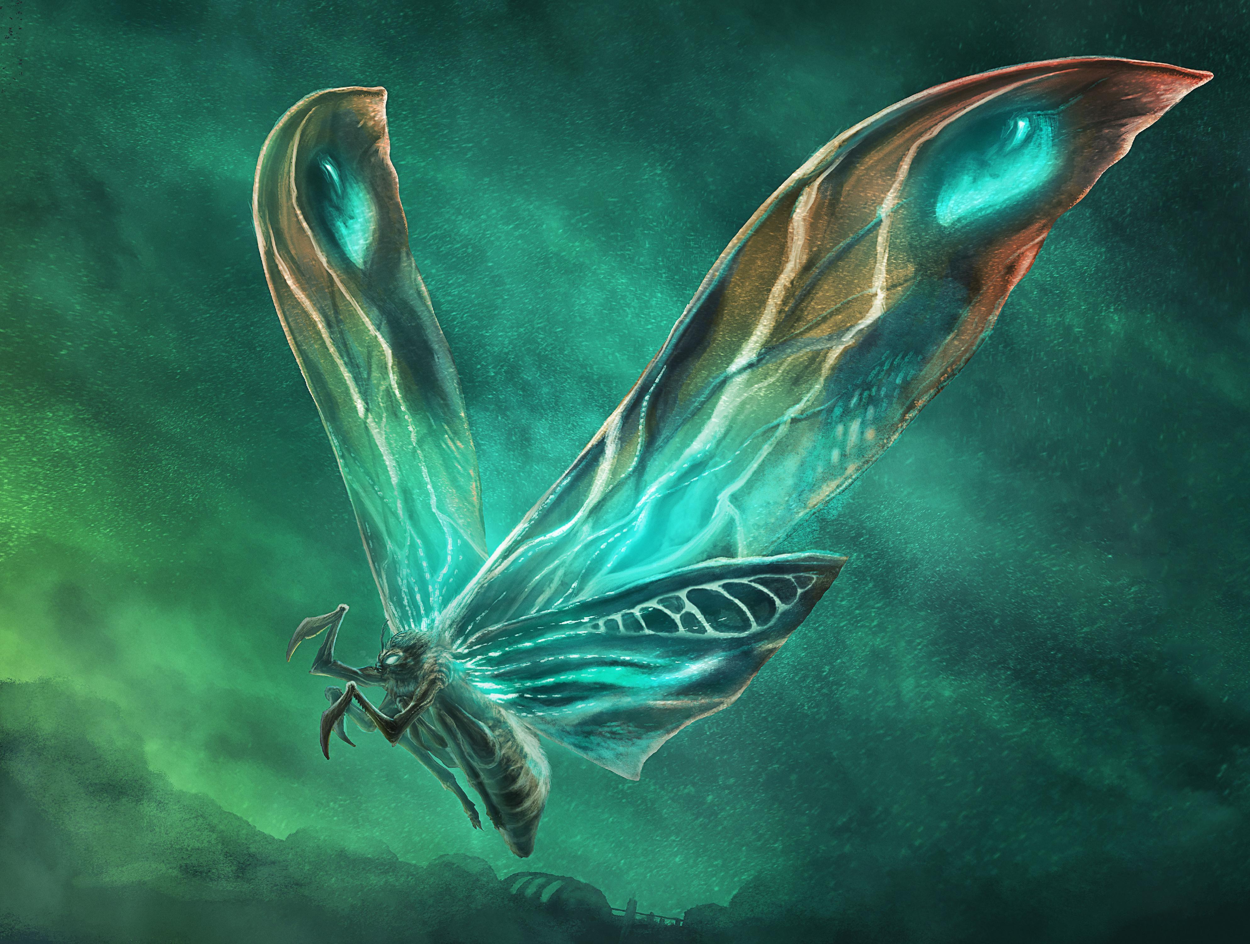 Mothra In Godzilla King Of The Monsters Wallpaper Hd Movies 4k