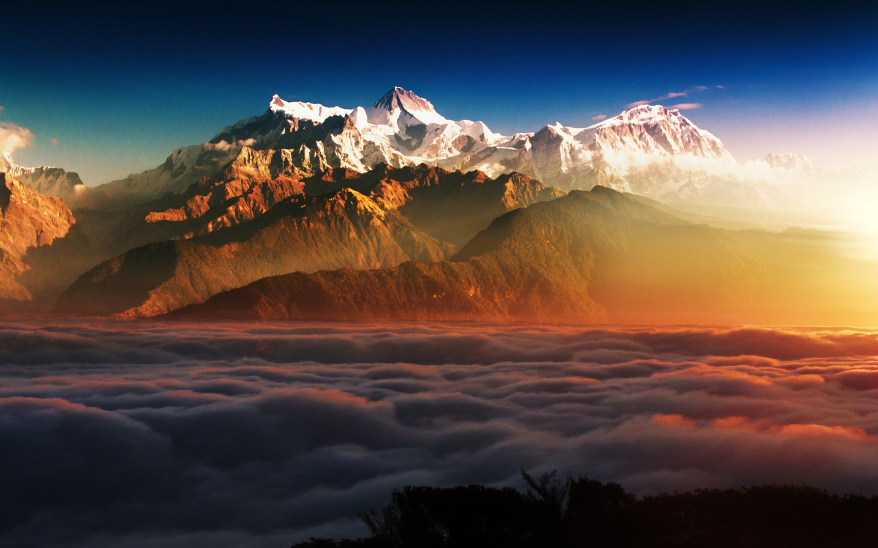 1280x800 Mountains In Clouds 1280x800 Resolution Wallpaper ...