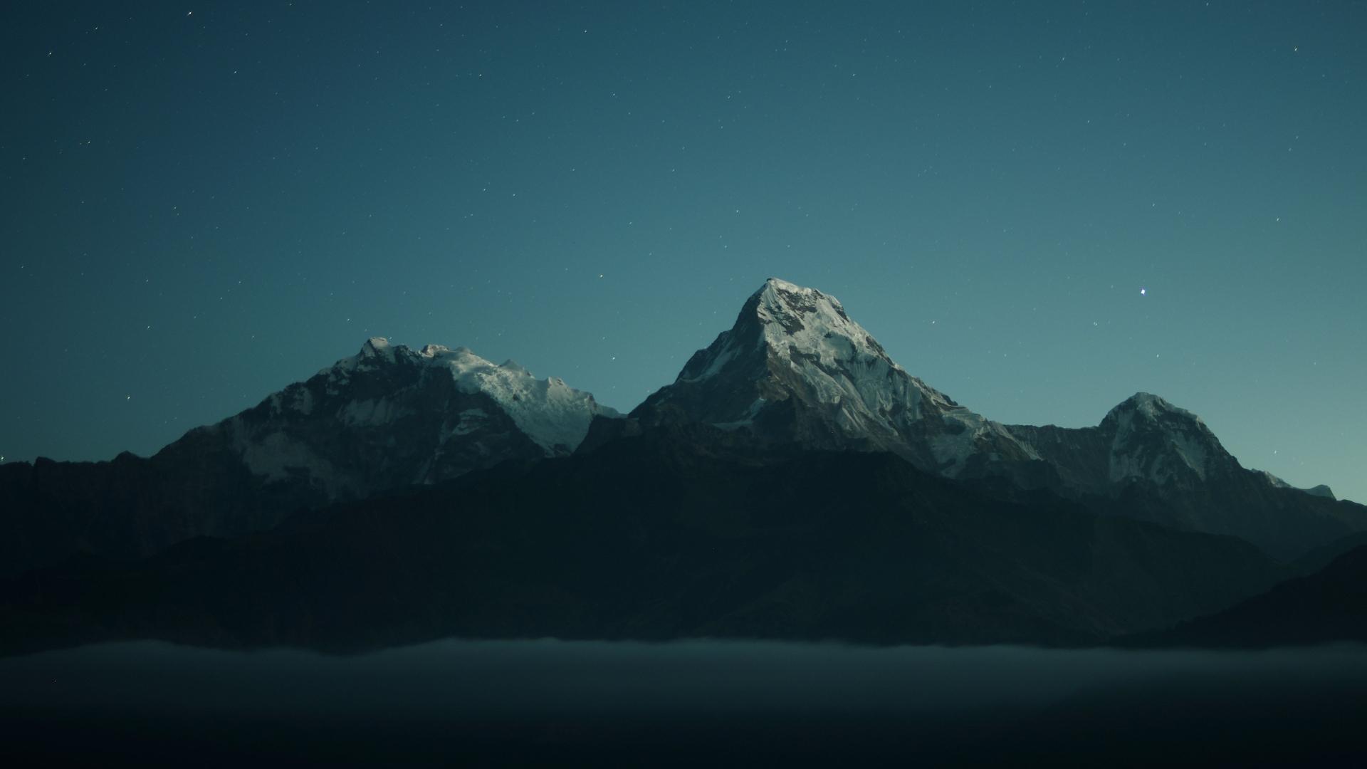 1920x1080 Mountains in Dark Night 1080P Laptop Full HD ...