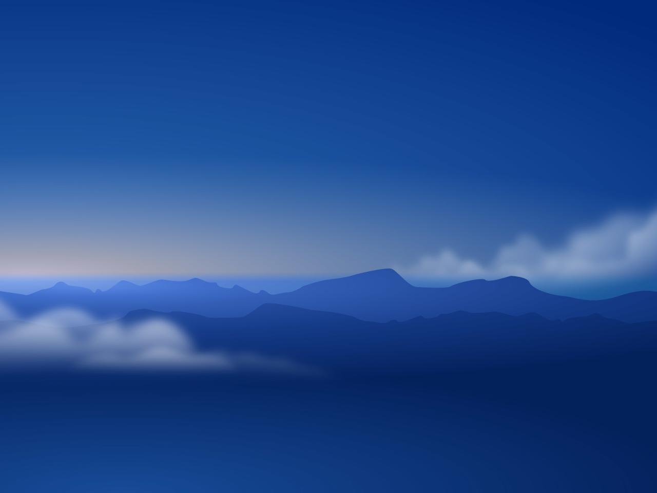 Minimalism Mountain Peak Full Hd Wallpaper: Mountains Minimalism, HD 4K Wallpaper