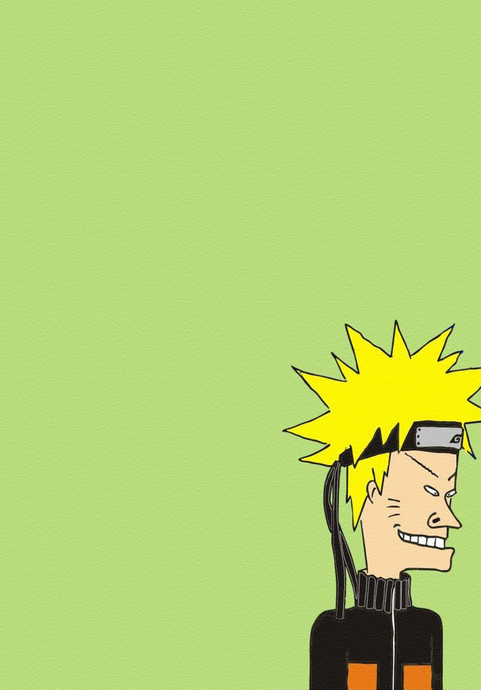 1668x2388 Naruto Beavis And Butt Head Minimalism 1668x2388