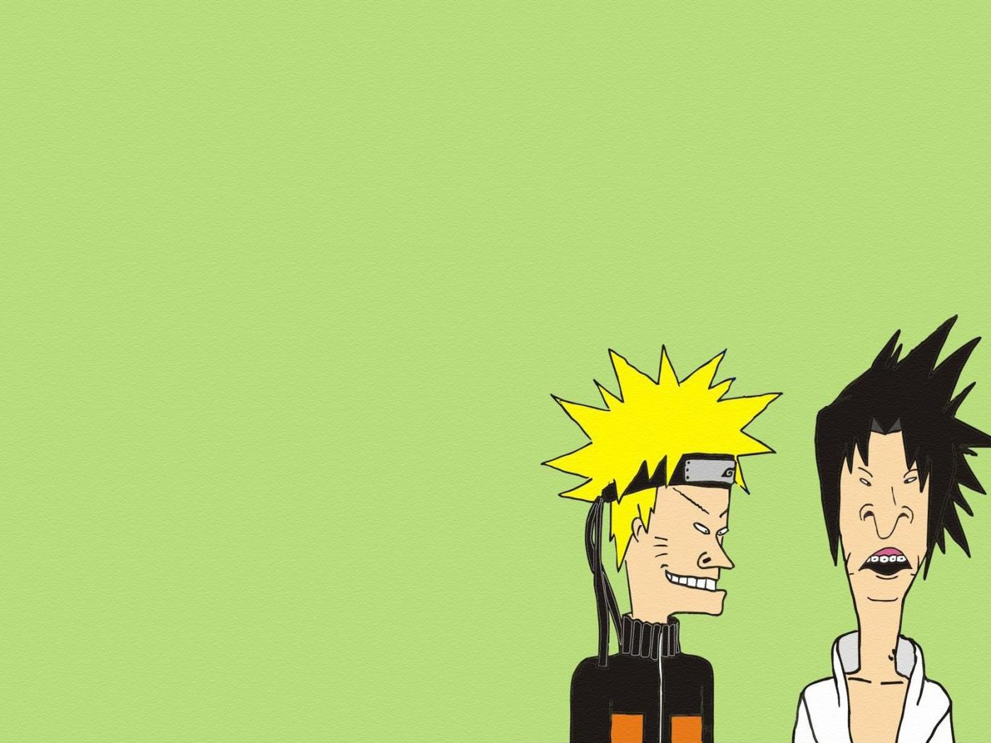 1400x1050 Naruto Beavis And Butt Head Minimalism 1400x1050