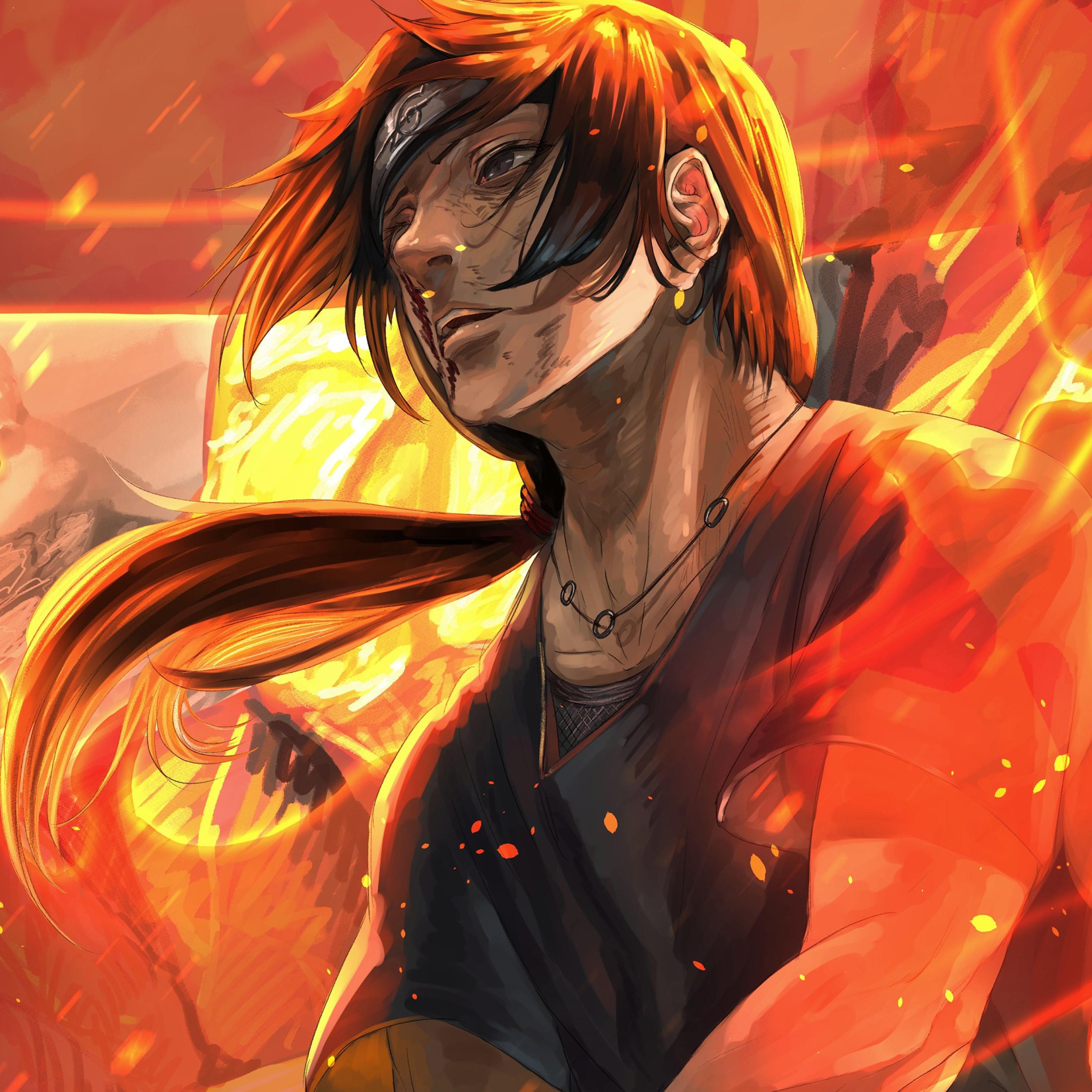 2932x2932 Naruto Fire Art Ipad Pro Retina Display ...