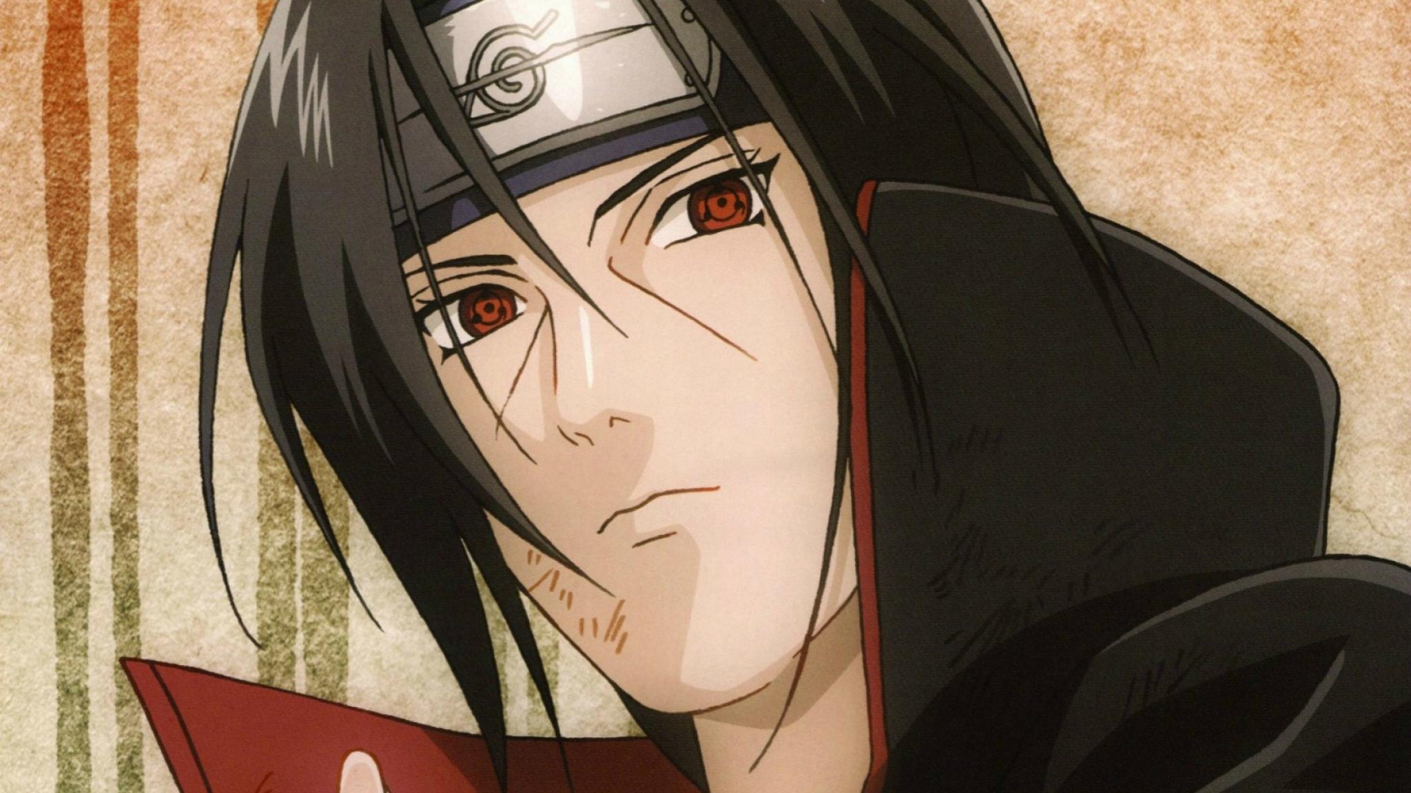 Download Naruto, Itachi Uchiha, Sharingan 1920x1080
