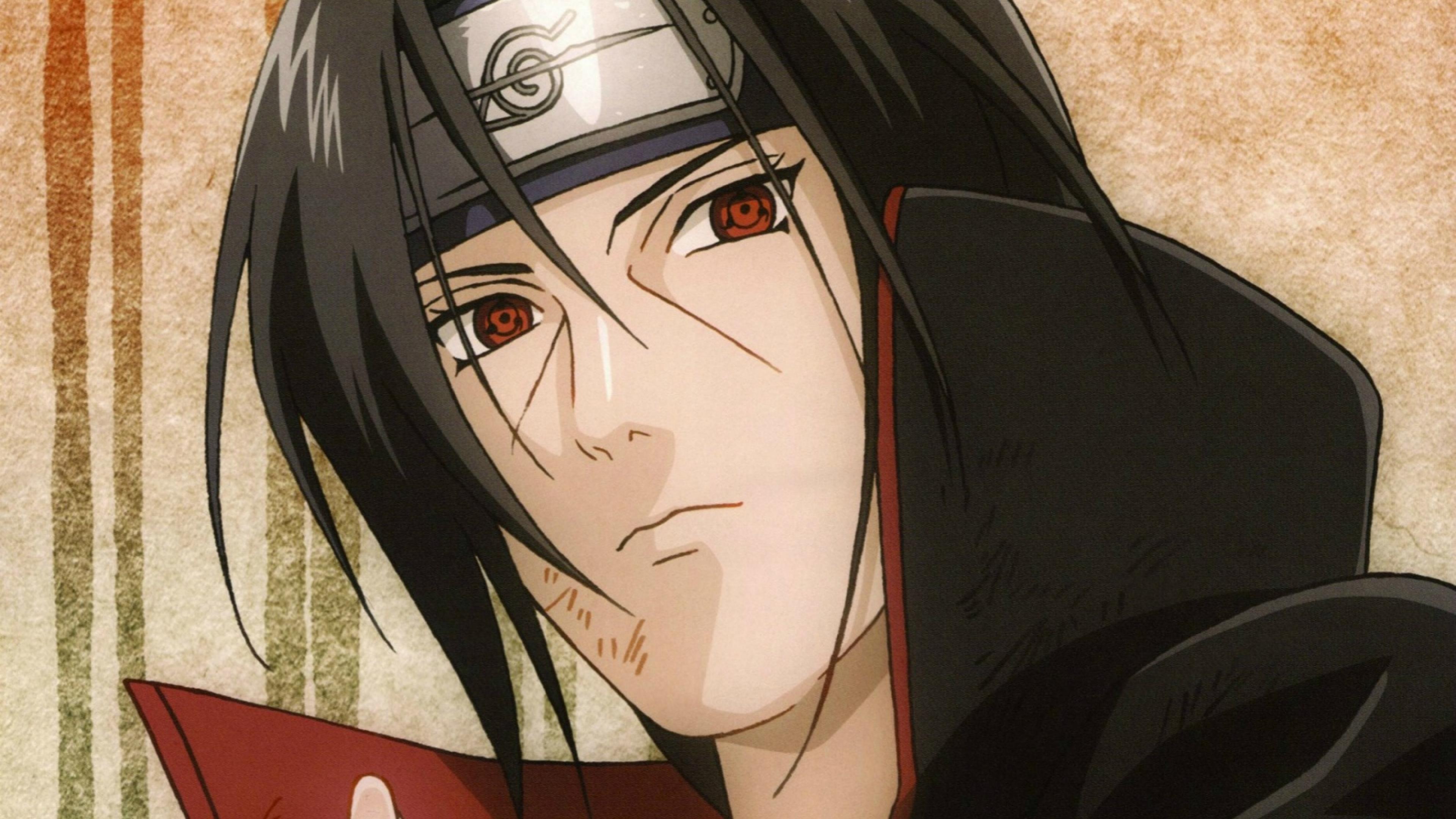 Naruto, Itachi Uchiha, Sharingan, Full HD Wallpaper