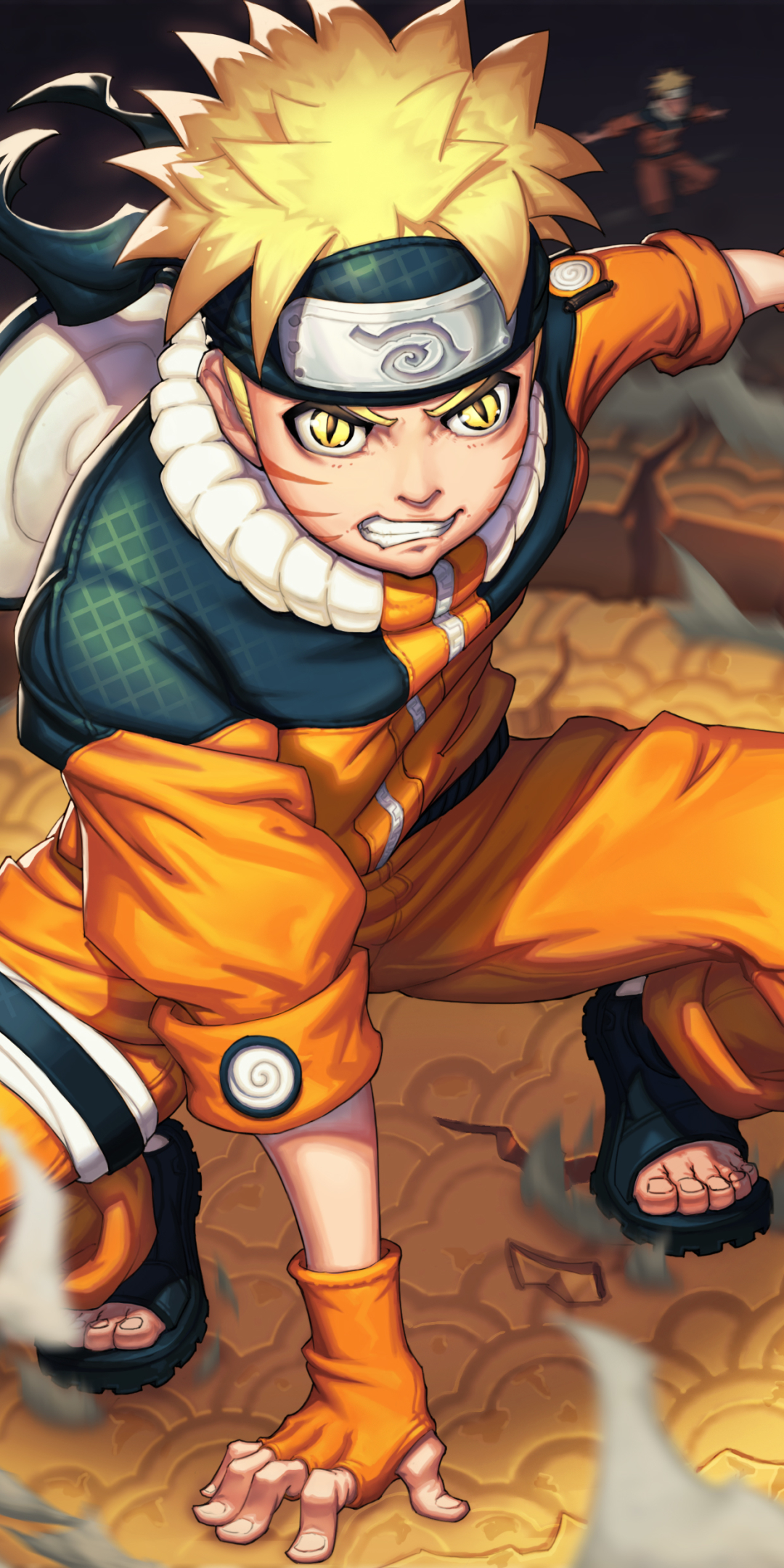 1080x2160 Naruto Uzumaki 4K Art One Plus 5T,Honor 7x,Honor ...