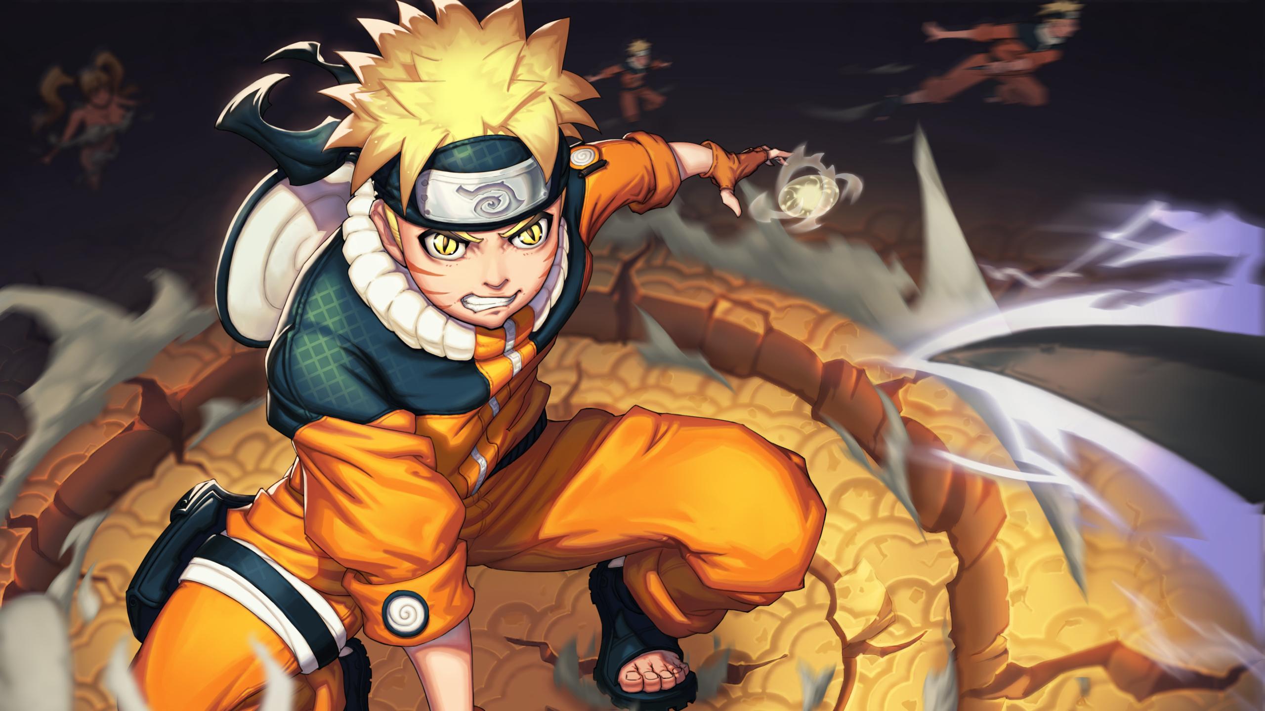 2560x1440 Naruto Uzumaki 4K Art 1440P Resolution Wallpaper ...