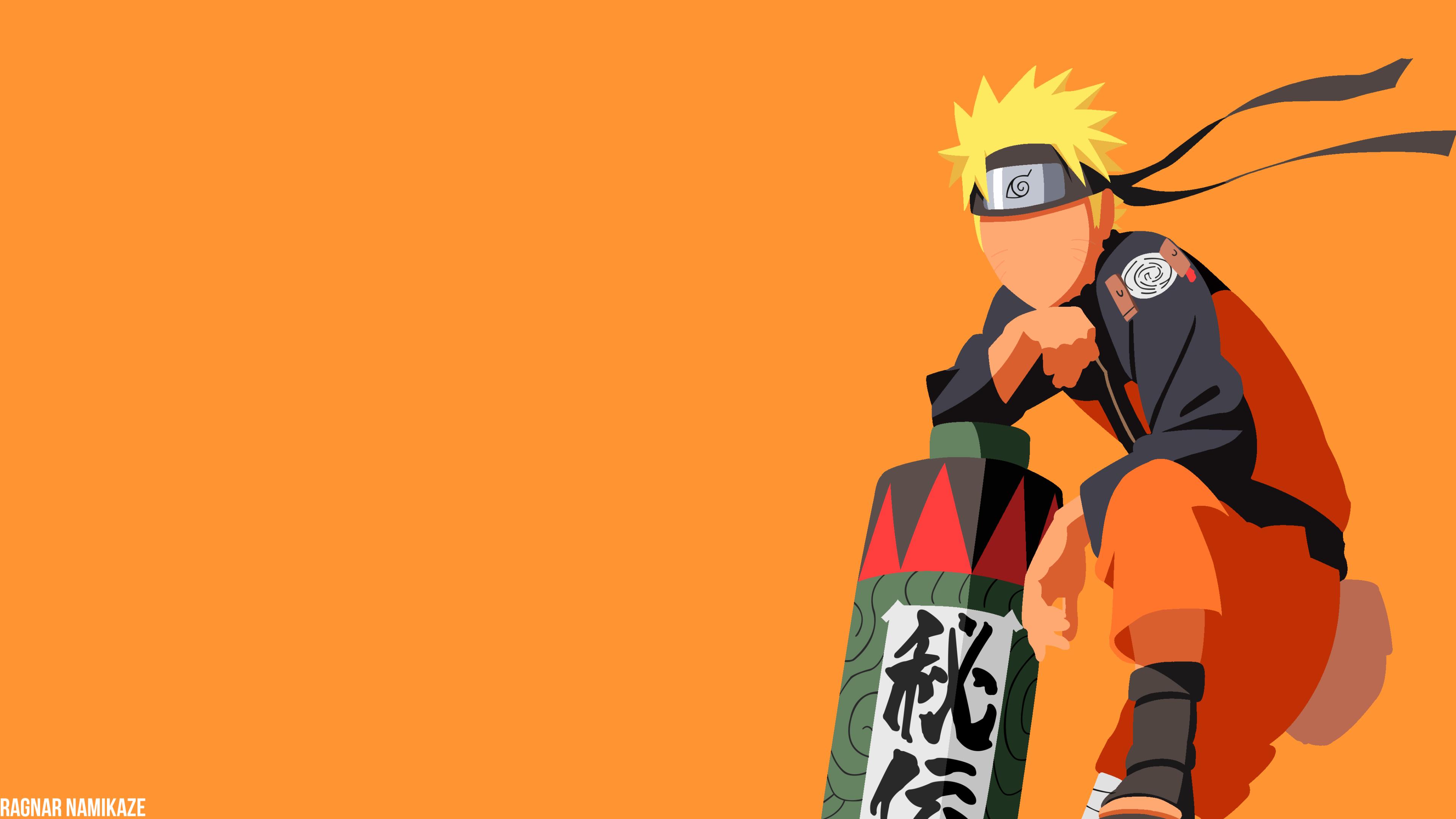 3840x2160 Naruto Uzumaki Minimalist 4k Wallpaper Hd
