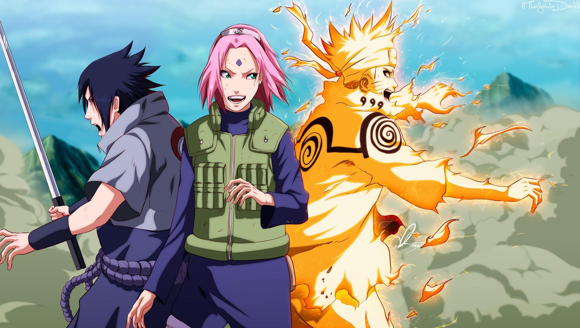 Naruto Uzumaki Naruto Uchiha Sasuke Wallpaper Hd Anime 4k