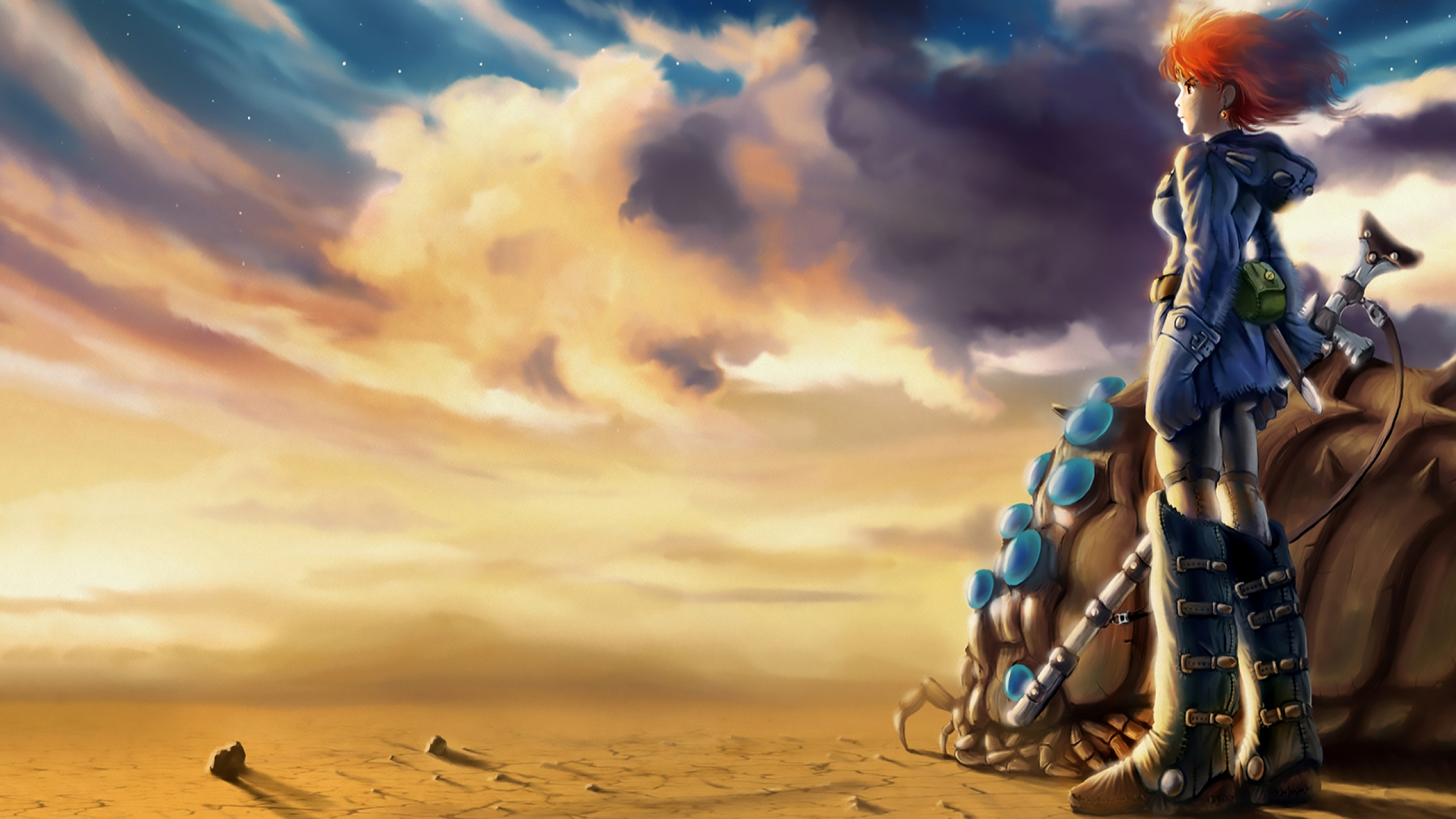 2560x1440 Nausicaa Of The Valley Of The Wind Nausicaa Desert