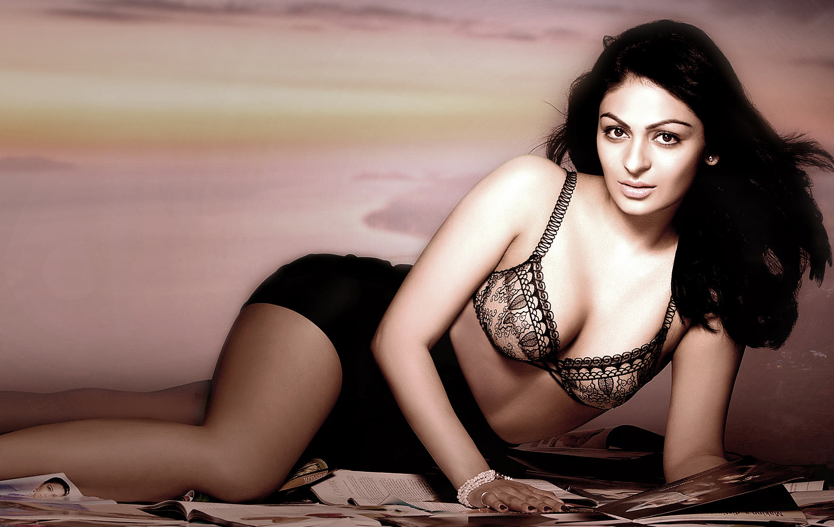 Neeru Bajwa Sexy Cleavage Photoshoot, Full Hd Wallpaper-4139