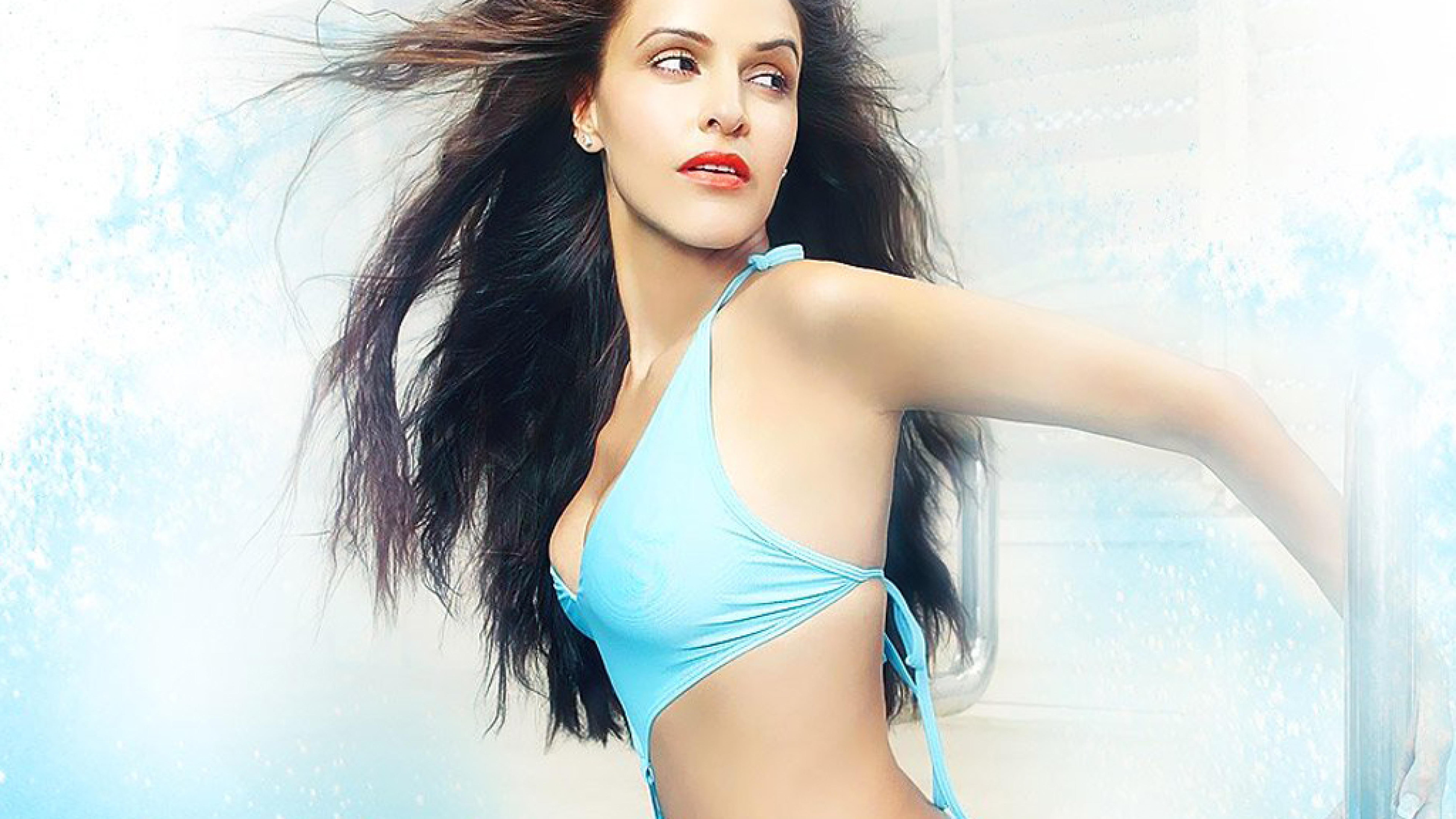 Neha Dhupia New Fabulous Bikini Photoshoot, HD Wallpaper