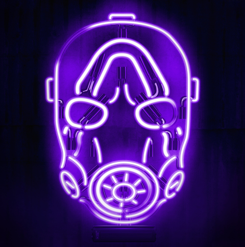 480x484 Neon Borderlands Mask Android One Wallpaper Hd