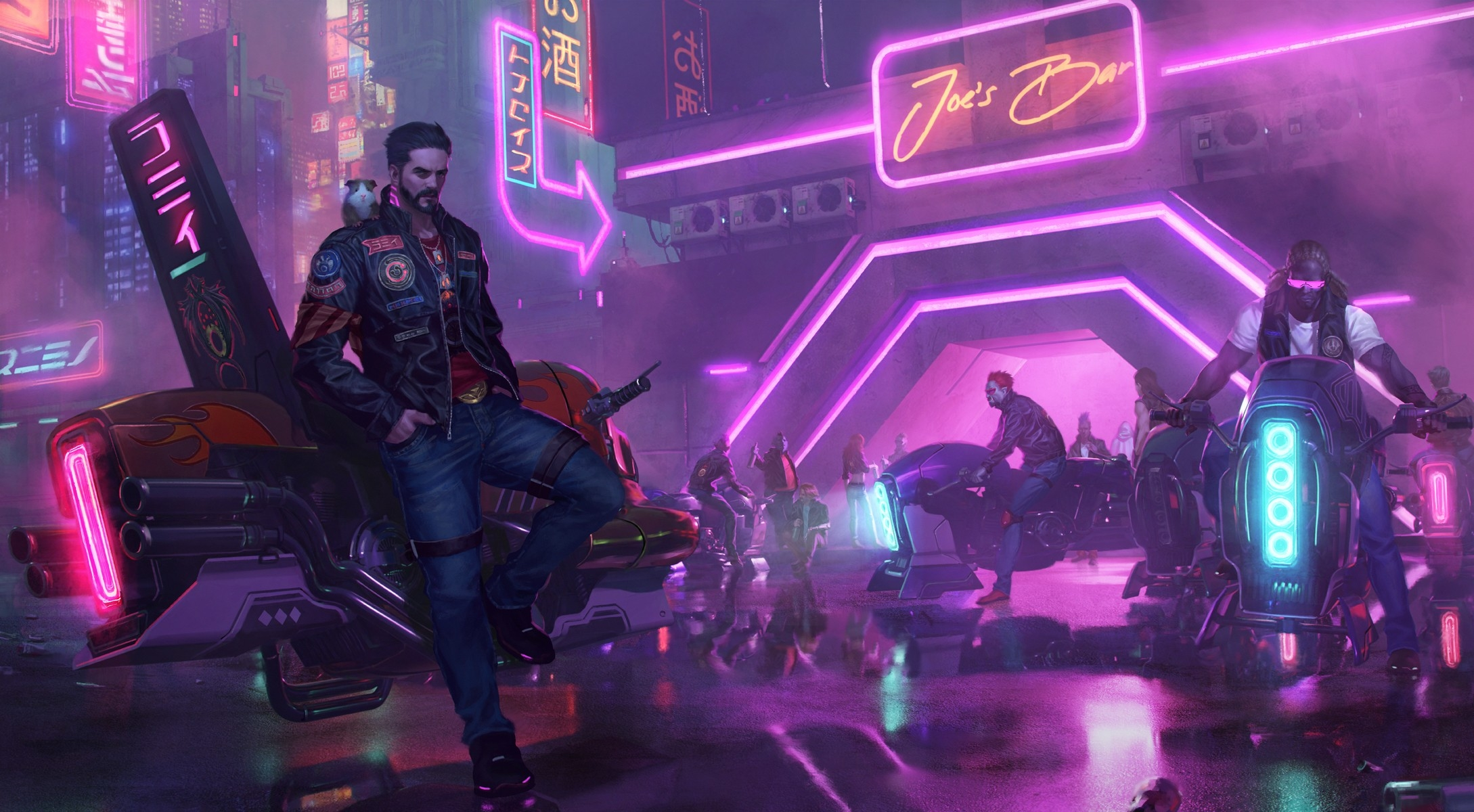 3840x2400 Neon Future Cyberpunk Male 4K 3840x2400 ...