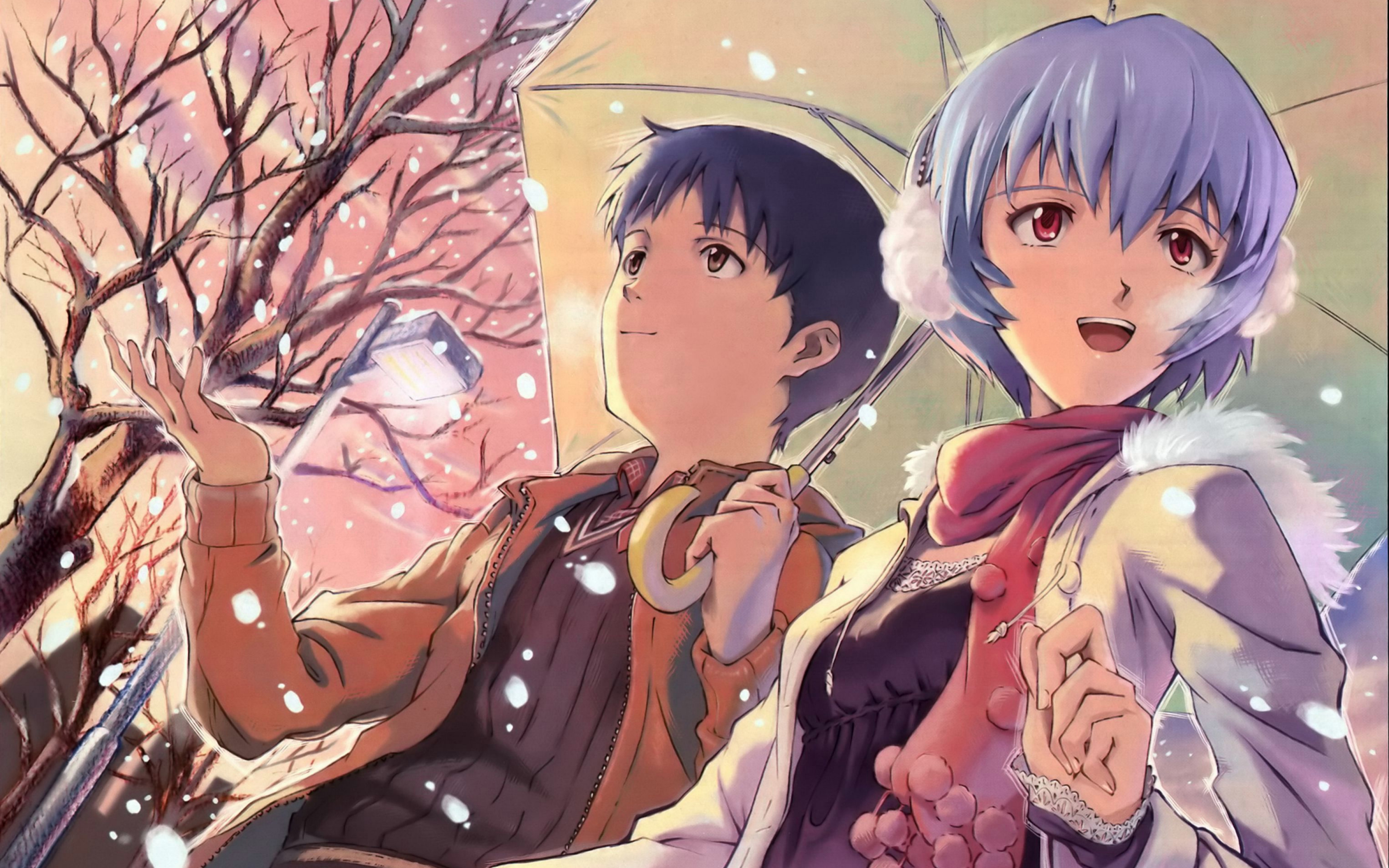 3840x2400 Neon Genesis Evangelion Umbreon Ayanami Rei 4k