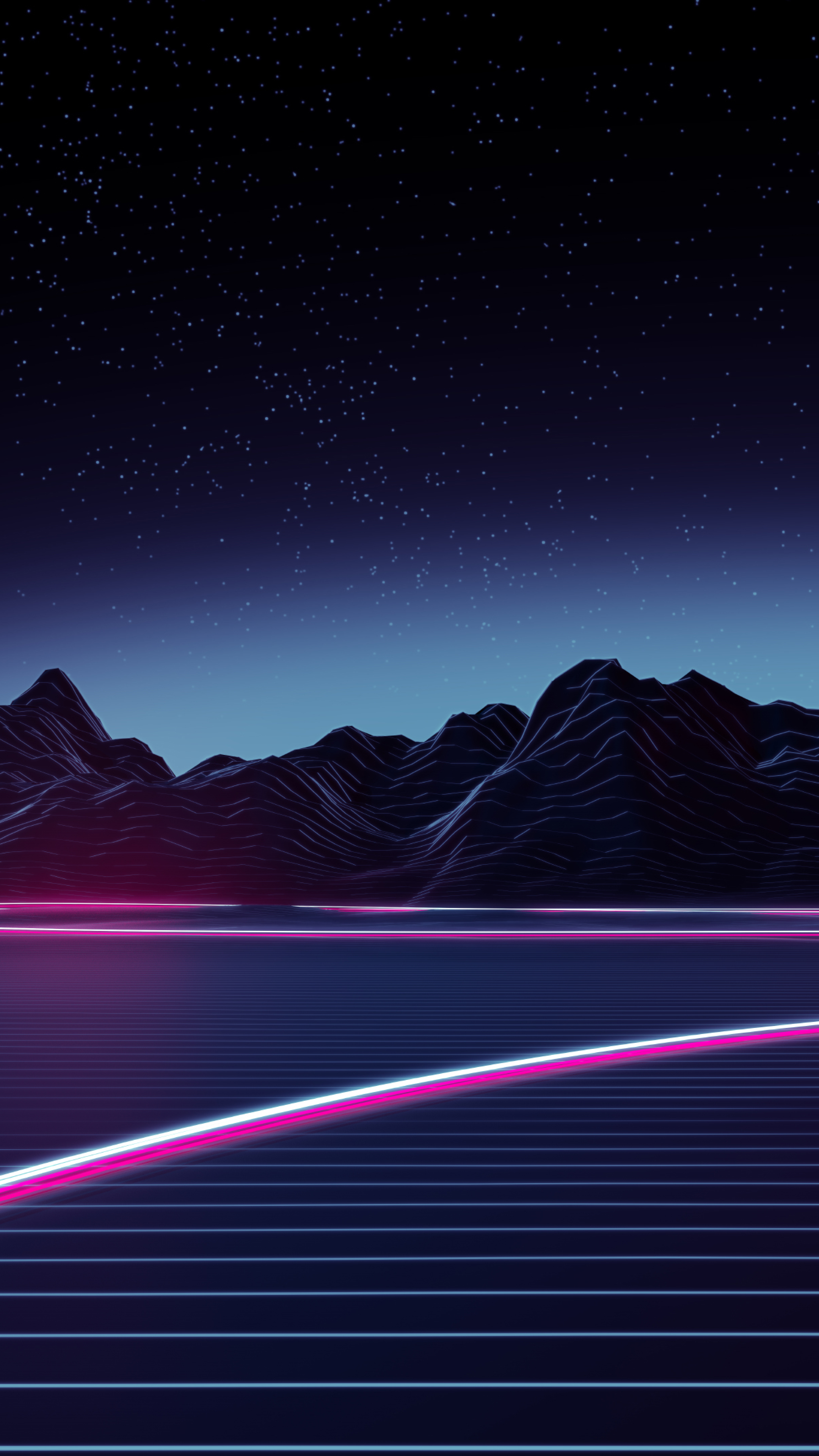 Download neon highway 2160x3840 resolution hd 4k wallpaper - 2160x3840 wallpaper ...